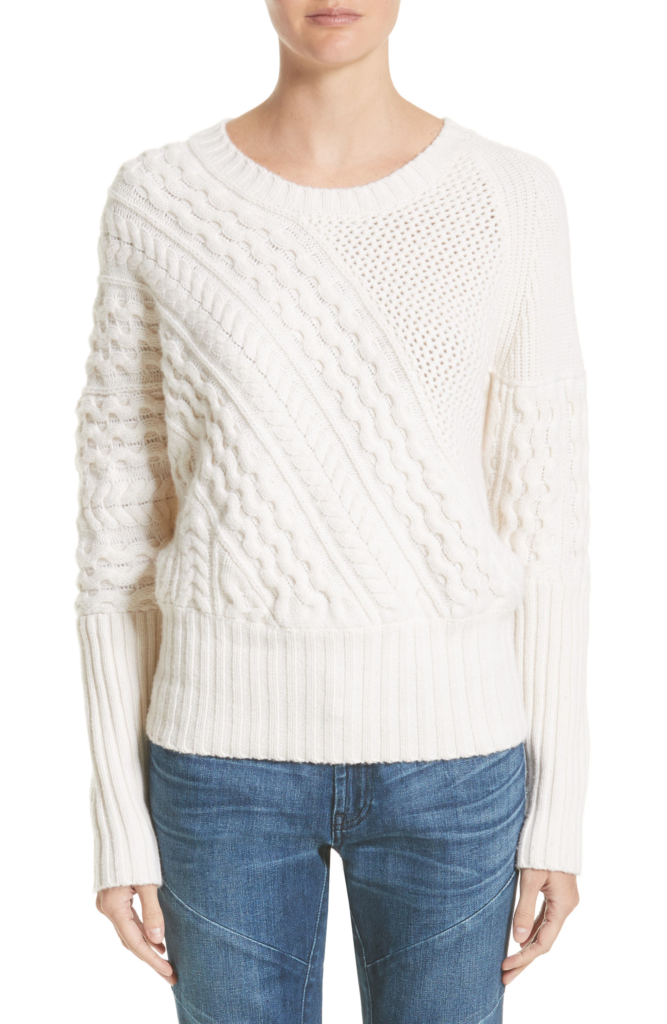 Burberry Mixed Stitch Wool & Cashmere Sweater