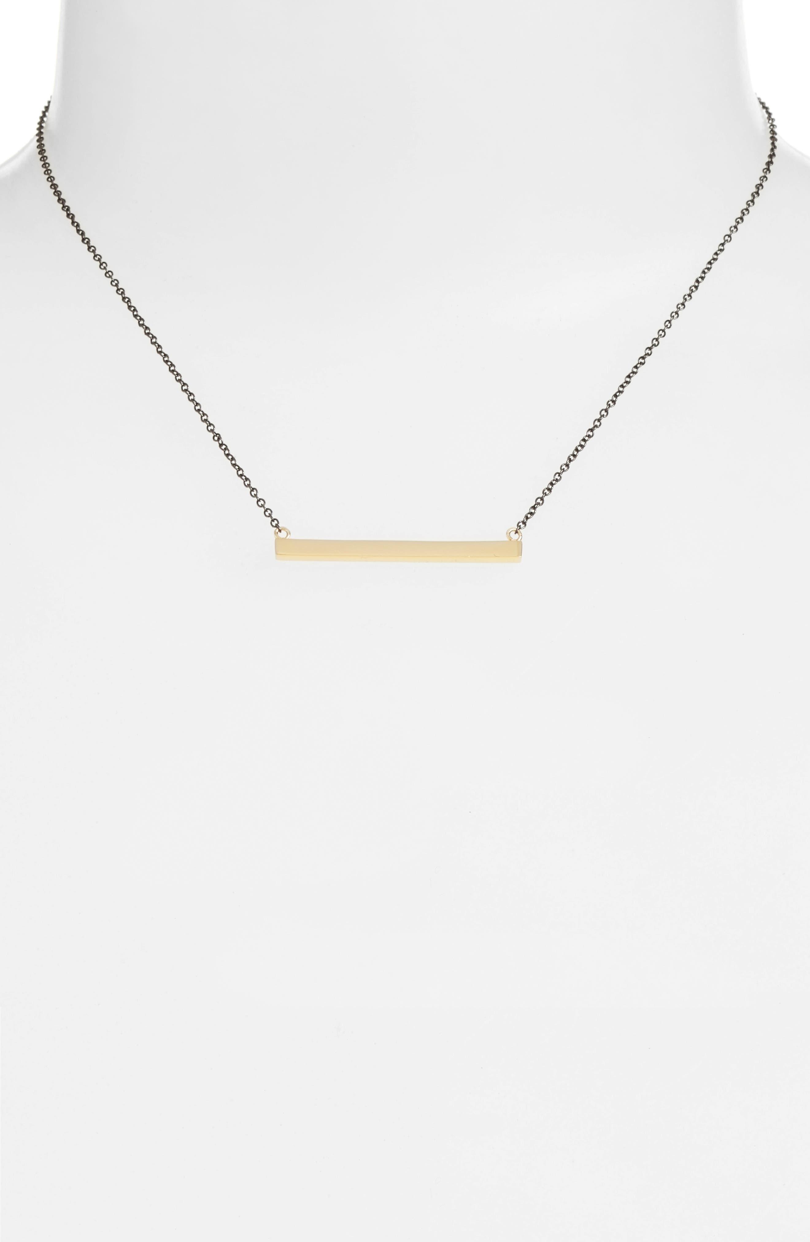 Alternate Image 2  - Argento Vivo Bar Pendant Necklace