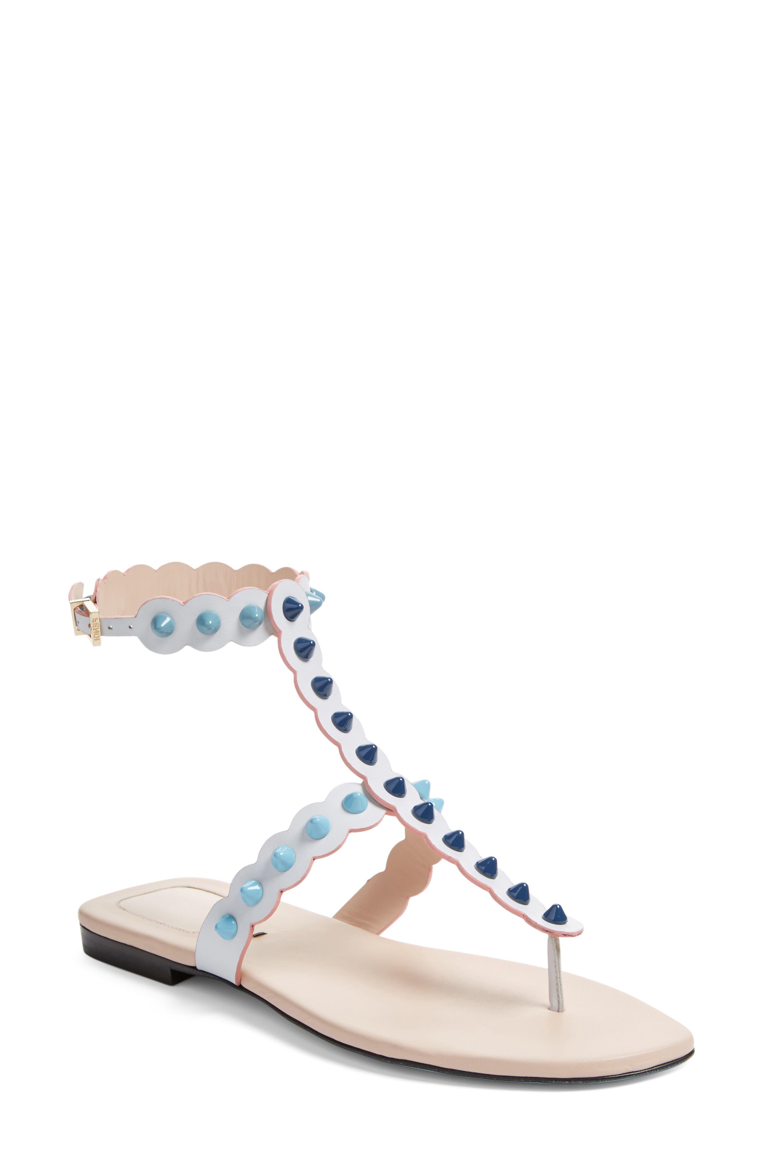 Alternate Image 1 Selected - Fendi Studded Gladiator Sandal (Women)