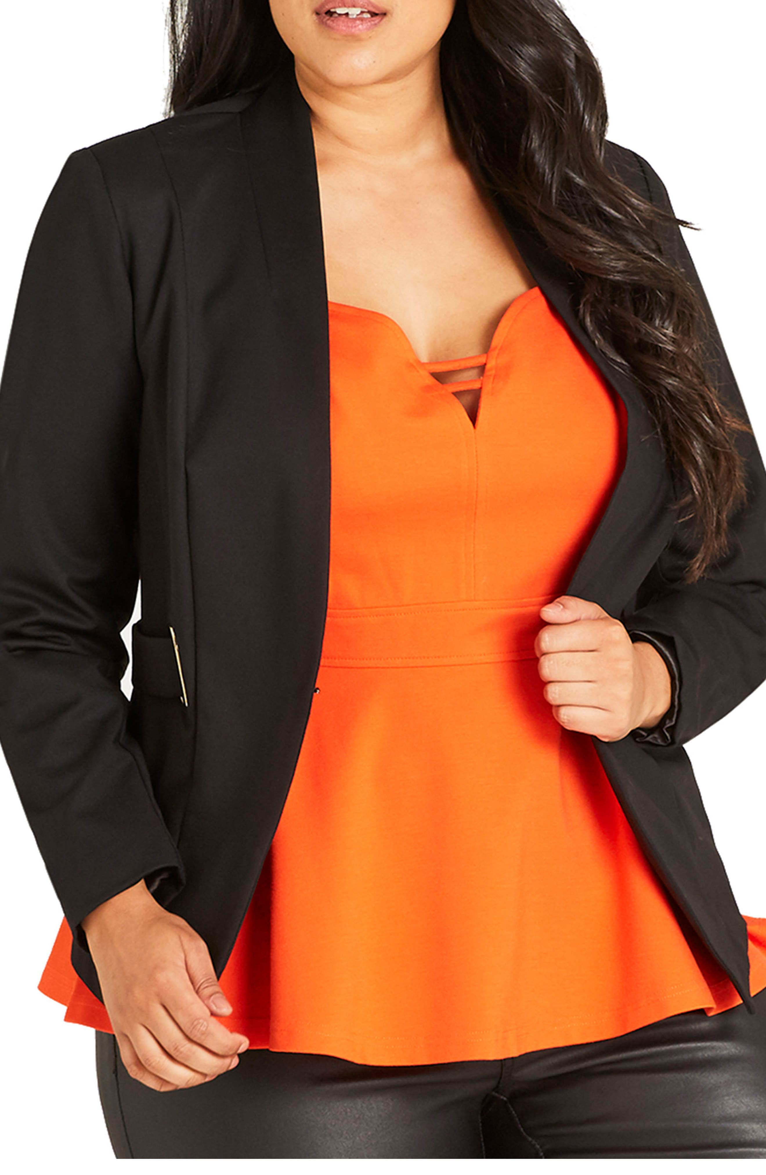 Alternate Image 1 Selected - City Chic Blazer (Plus Size)
