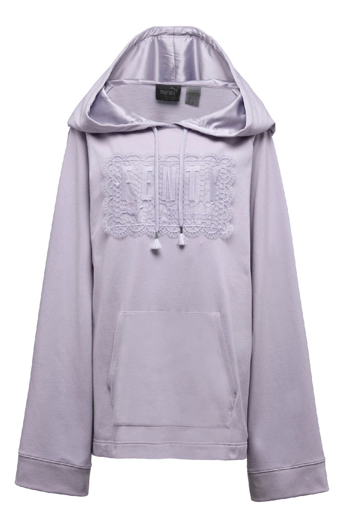 FENTY PUMA by Rihanna Lace Hoodie,                             Alternate thumbnail 5, color,                             Thistle