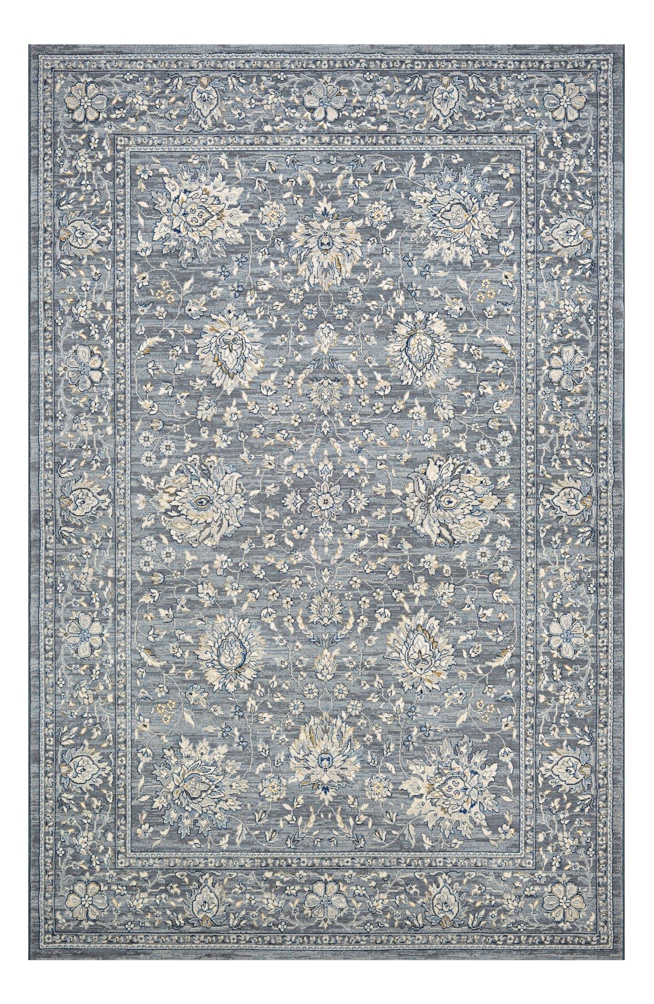 Persian Isfahn Indoor/Outdoor Rug,                             Main thumbnail 1, color,                             Slate