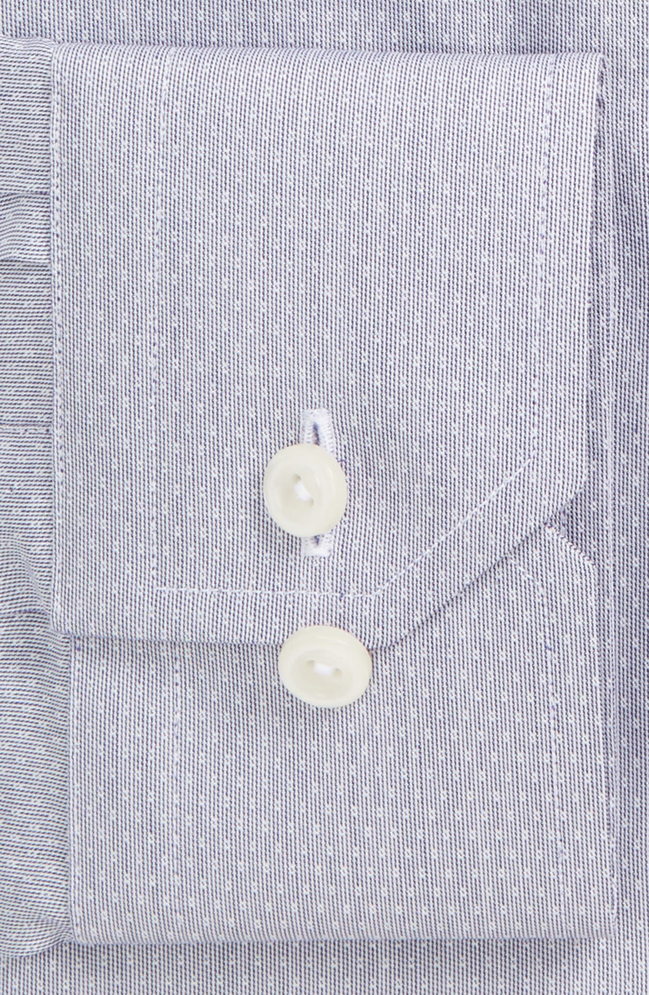 Contemporary Fit Dot Dress Shirt,                             Alternate thumbnail 2, color,                             Grey