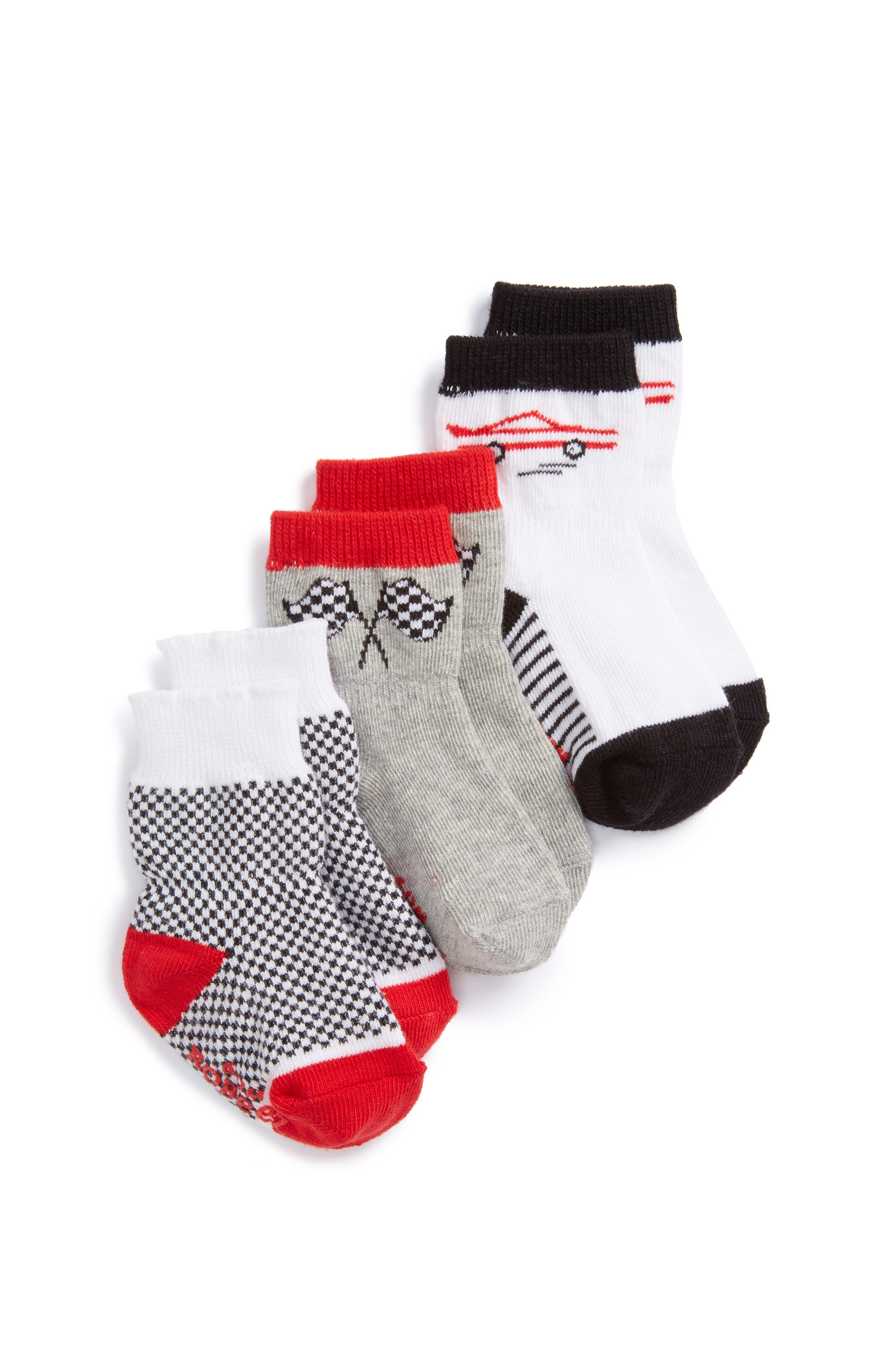 Robeez® Speedy Assorted 3-Pack Socks (Baby)
