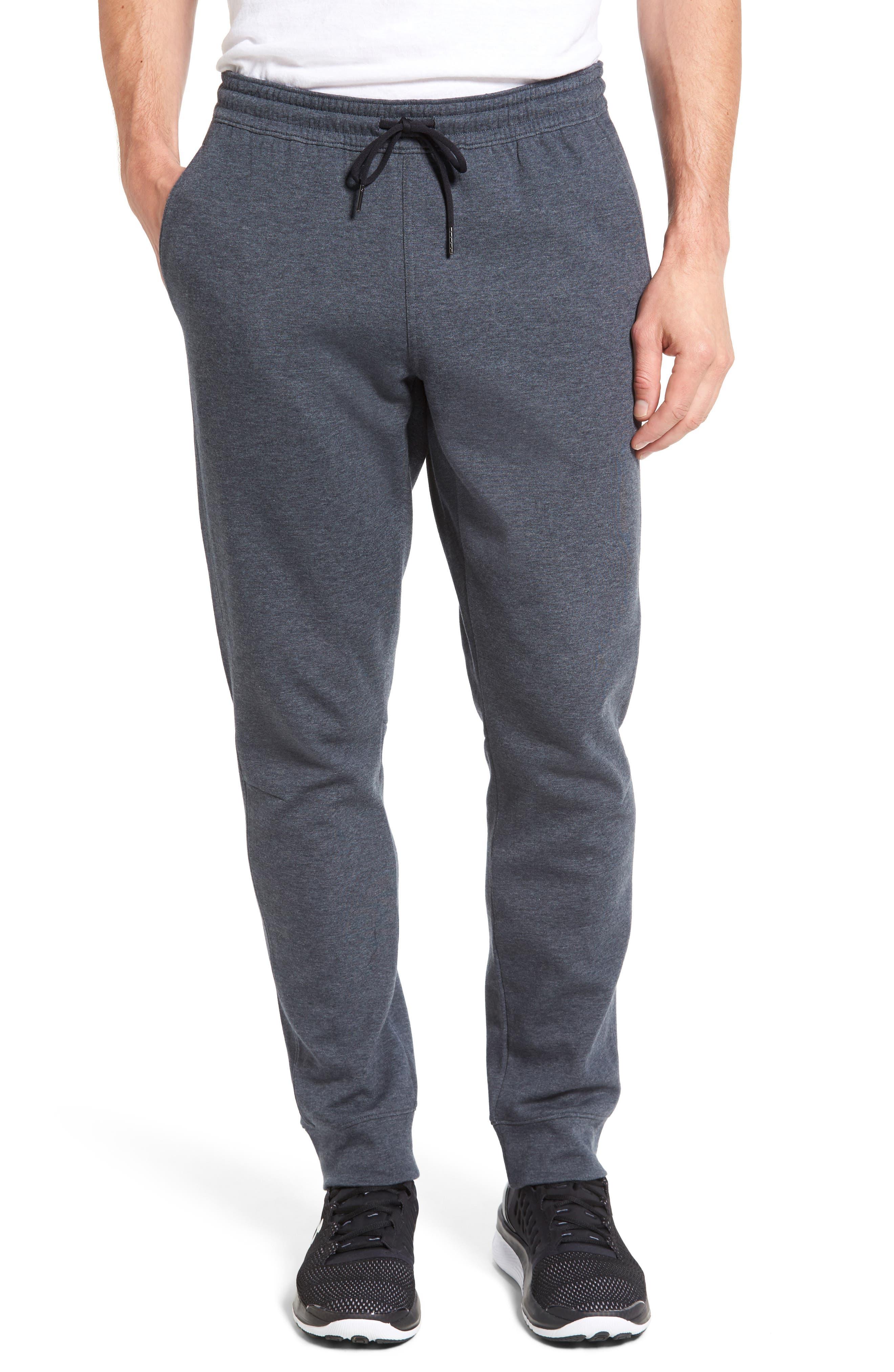 Knit Jogger Pants,                         Main,                         color, Grey Obsidian Melange