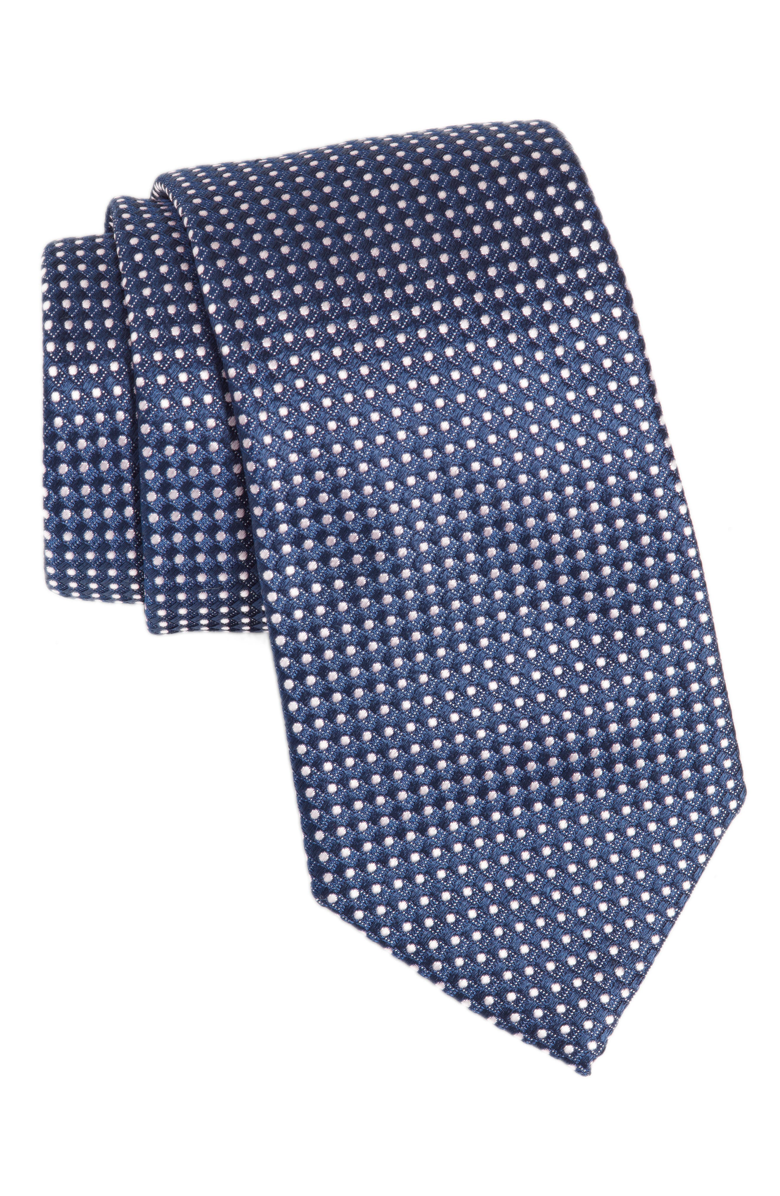 Alternate Image 1 Selected - BOSS Dot Silk Tie