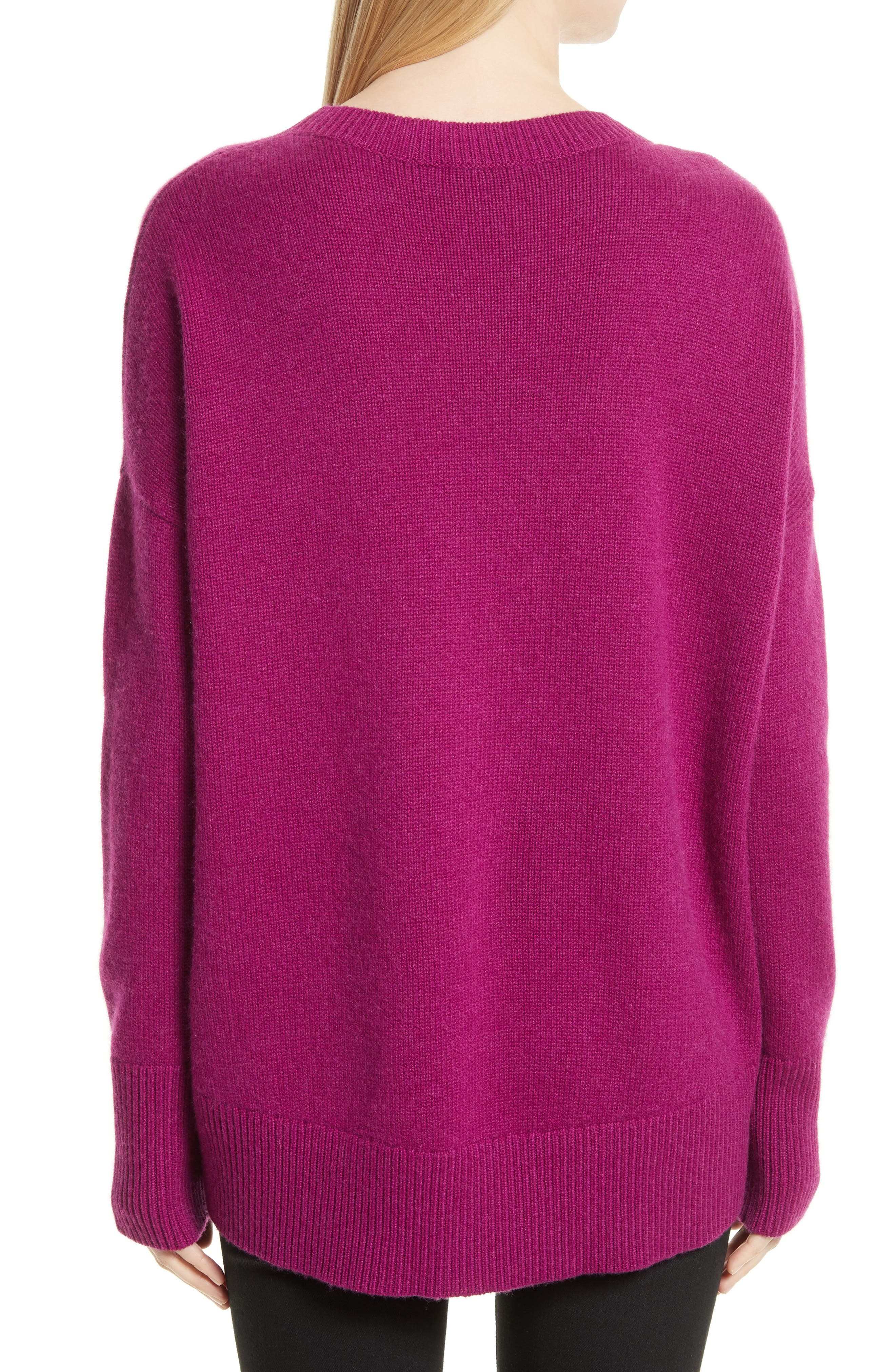 Karenia R Cashmere Sweater,                             Alternate thumbnail 2, color,                             Fuschia