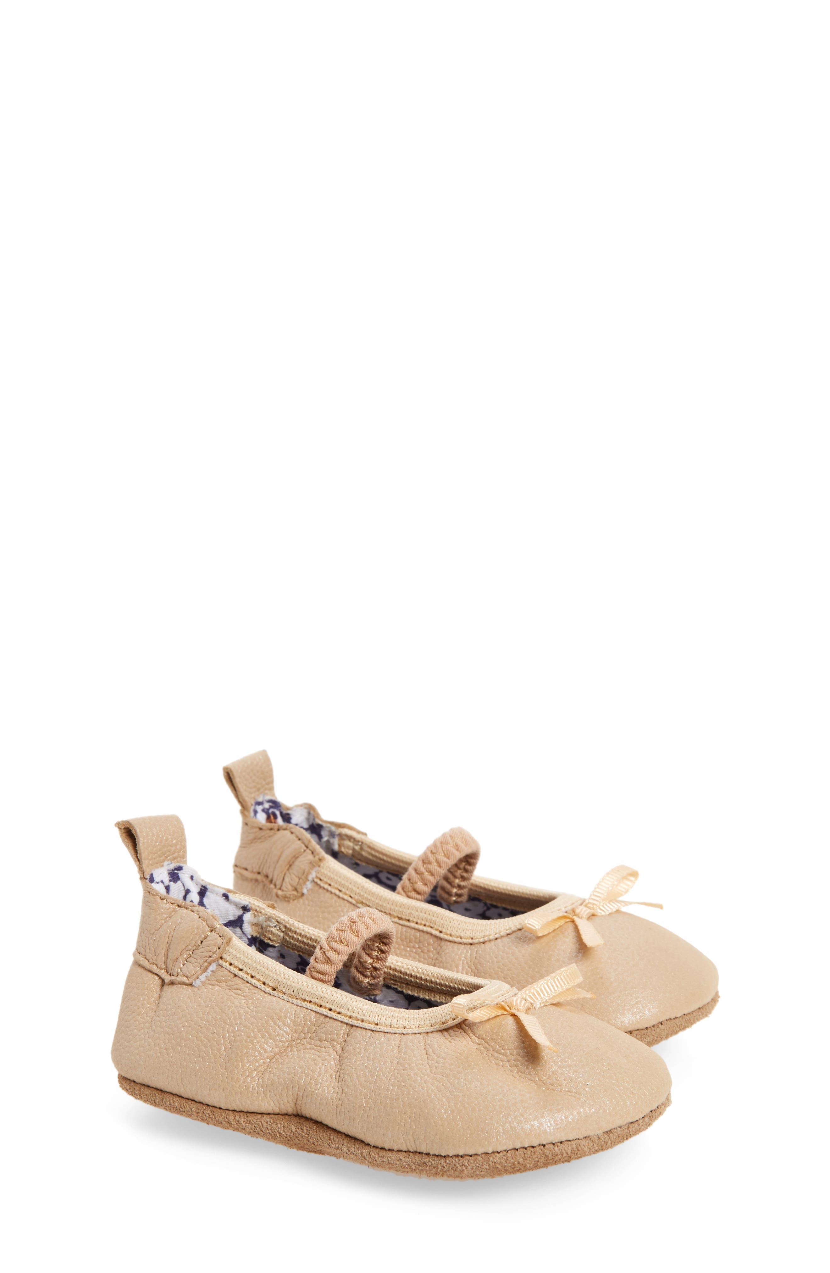 Alternate Image 1 Selected - Robeez® Rachel Ballet Flat (Baby & Walker)