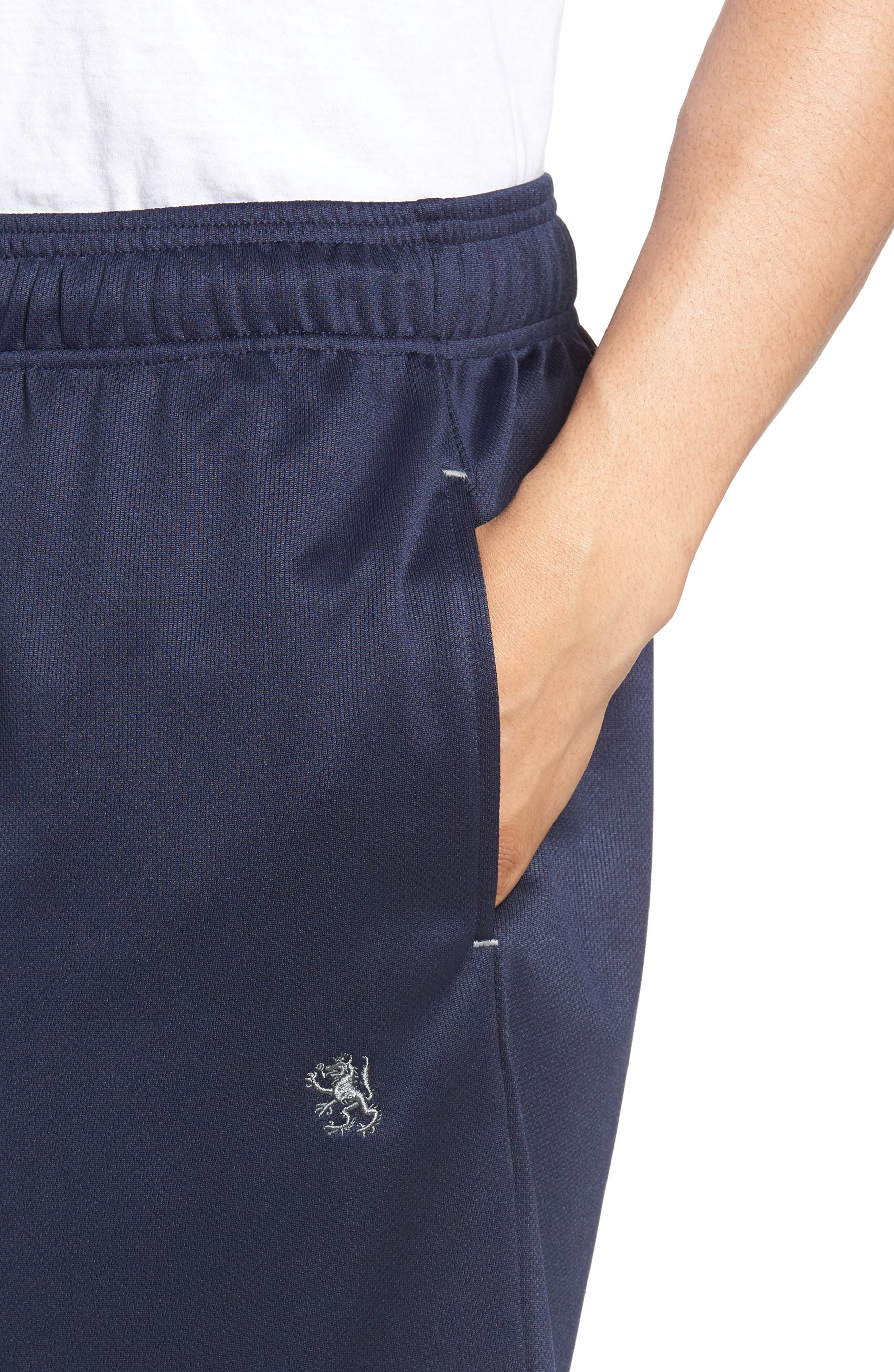 Work Out Lounge Shorts,                             Alternate thumbnail 4, color,                             Navy
