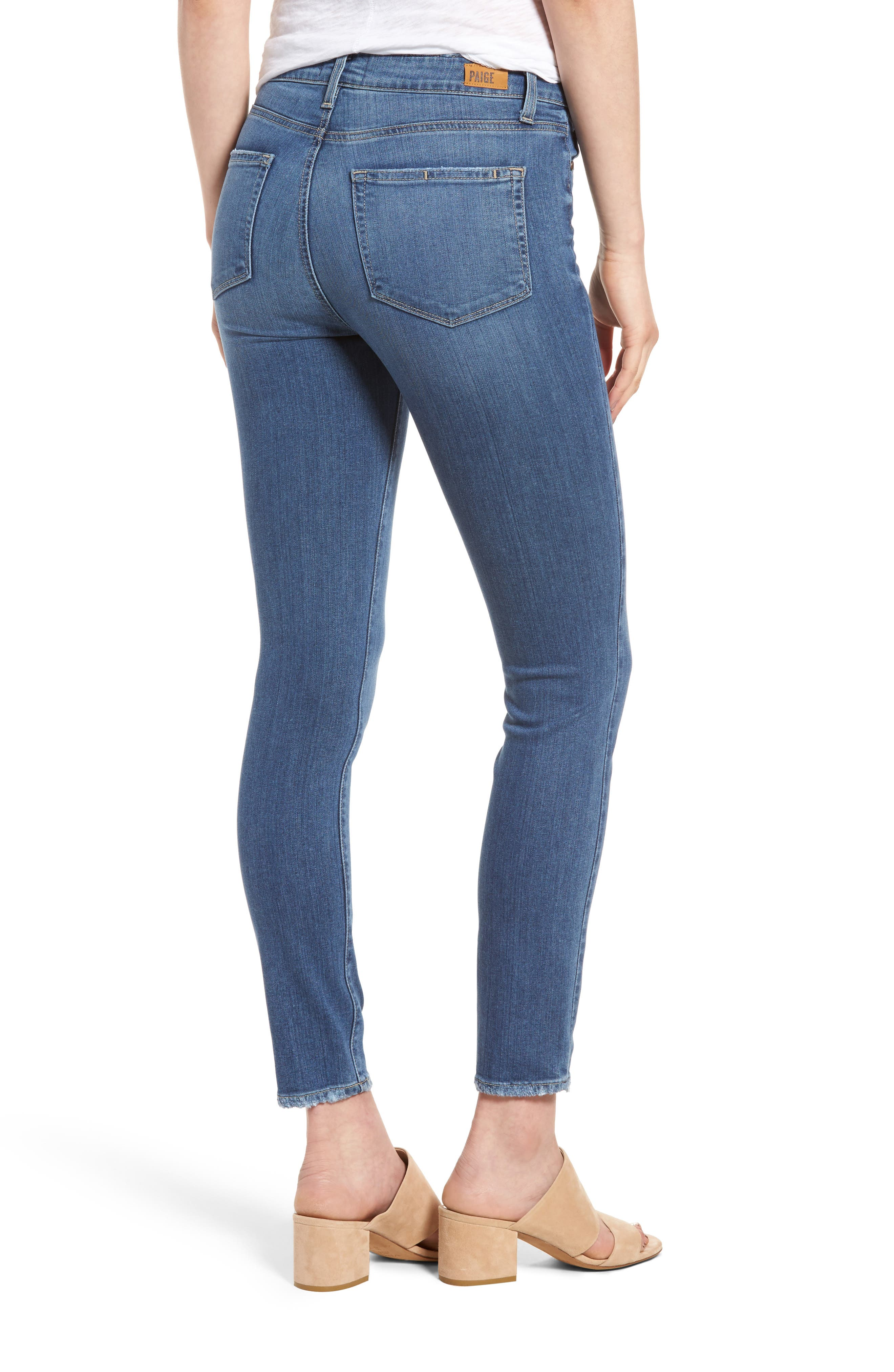Hoxton High Waist Ankle Skinny Jeans,                             Alternate thumbnail 2, color,                             Roman