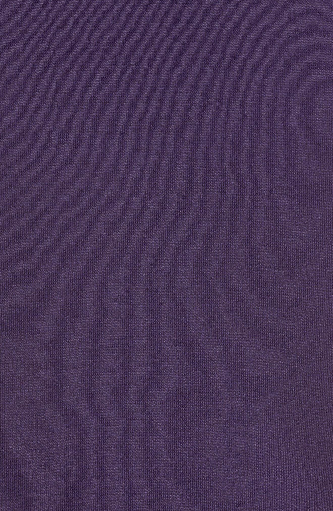Milano Knit Contour Shell,                             Alternate thumbnail 5, color,                             Royal Amethyst