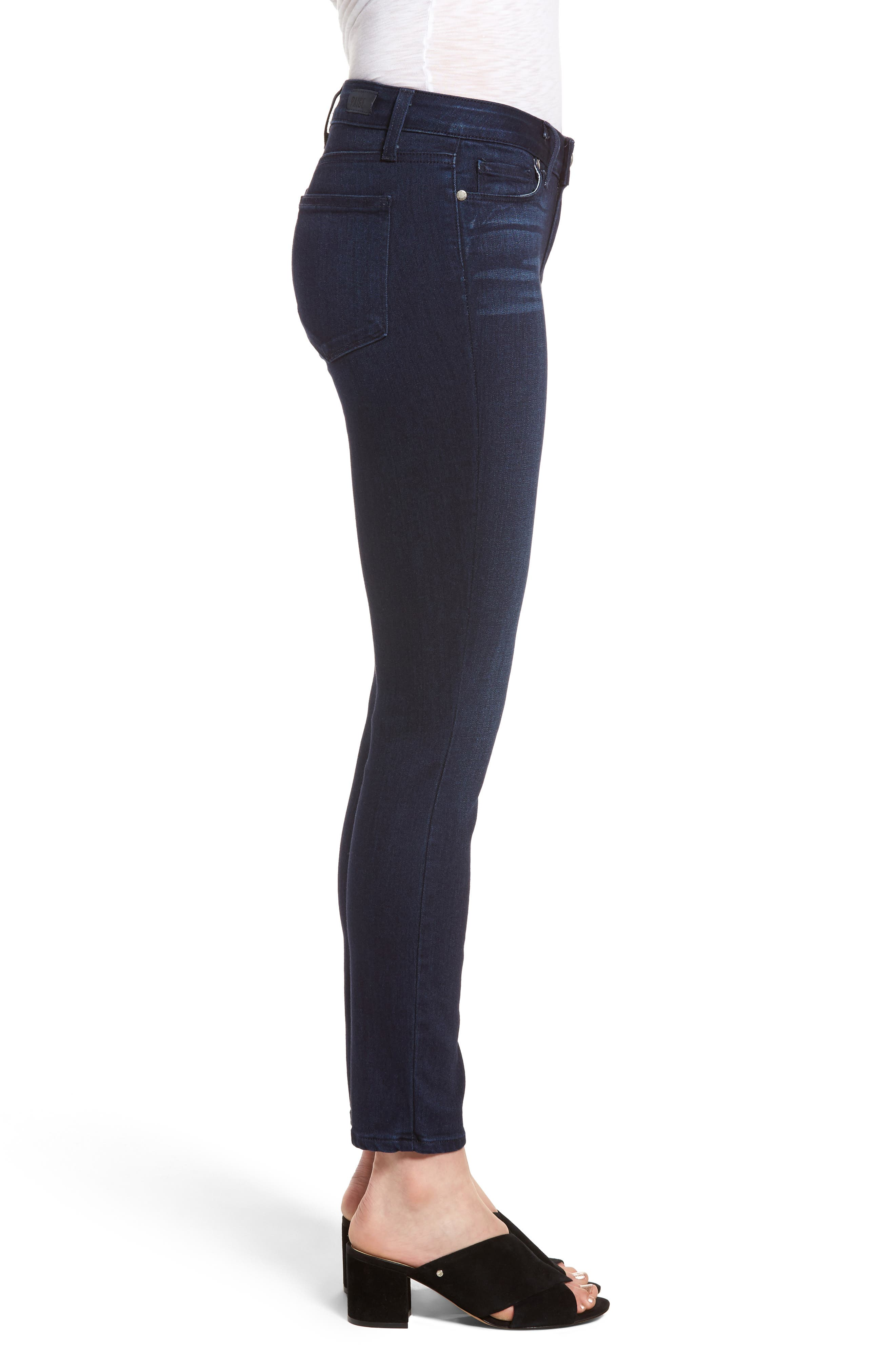 Verdugo Ankle Skinny Jeans,                             Alternate thumbnail 3, color,                             Bryce