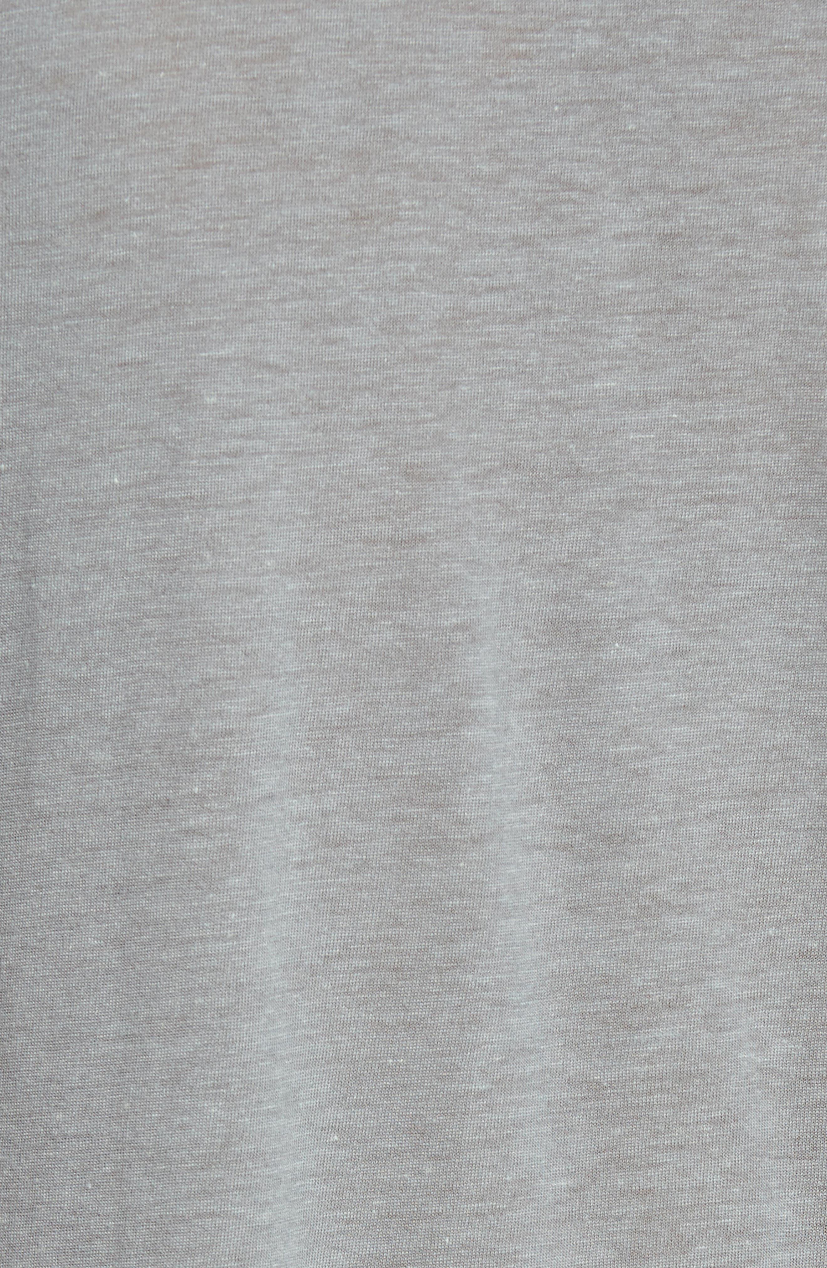 V-Neck T-Shirt,                             Alternate thumbnail 5, color,                             Elephant Grey