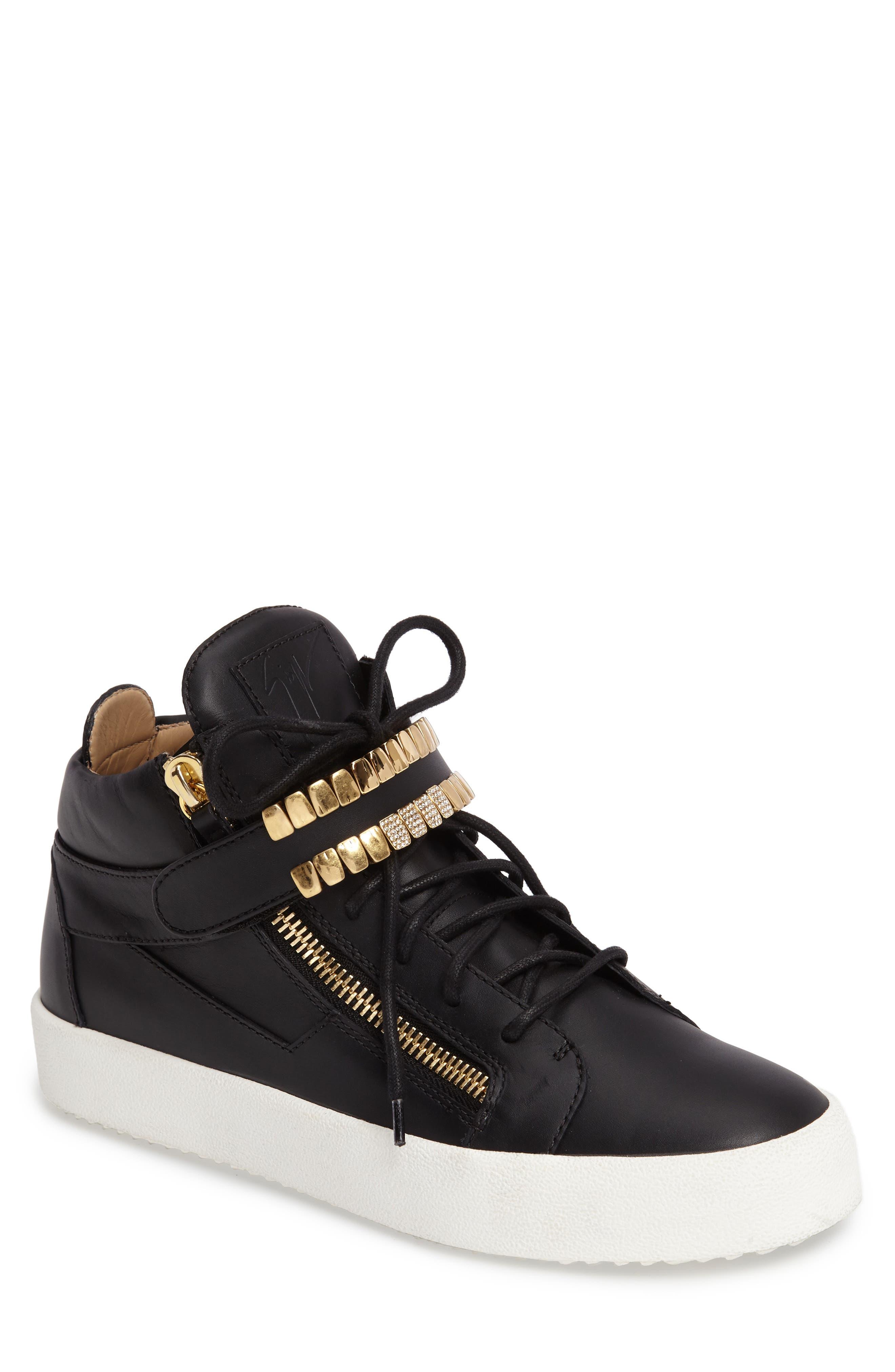 Alternate Image 1 Selected - Giuseppe Zanotti Mid Top Sneaker (Men)