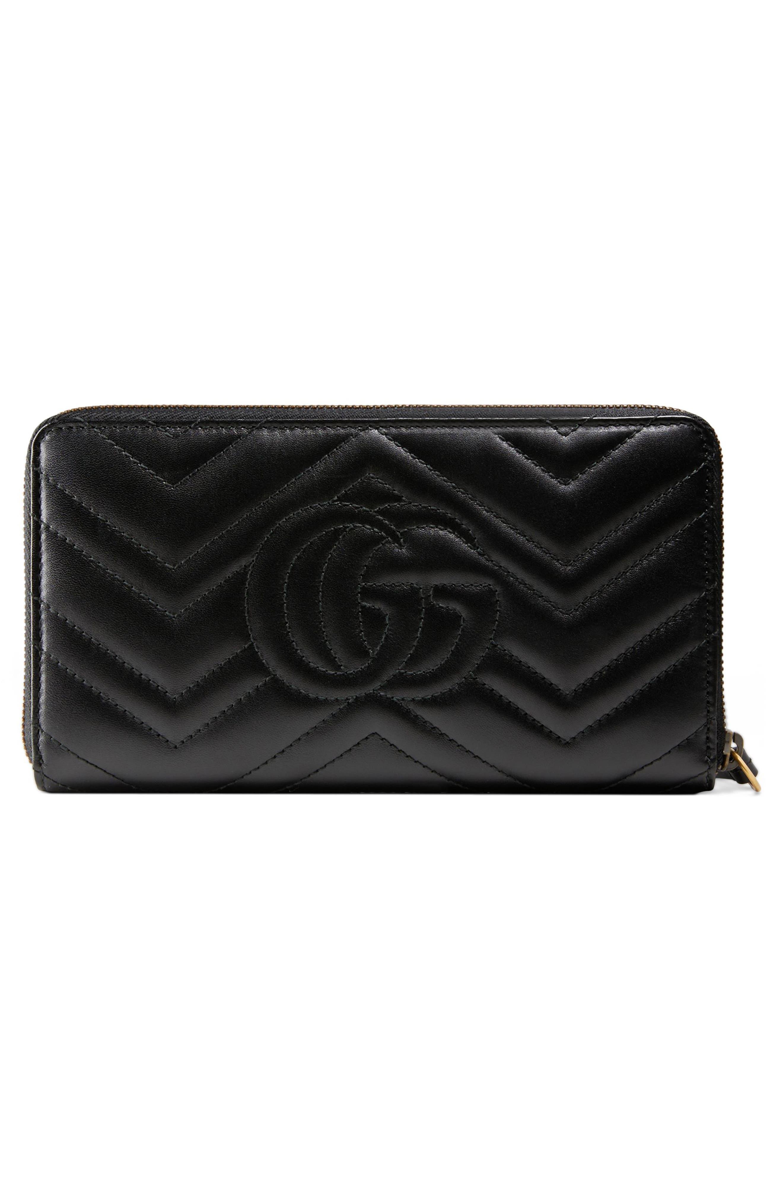 Alternate Image 3  - Gucci GG Marmont Matelassé Leather Zip-Around Wallet