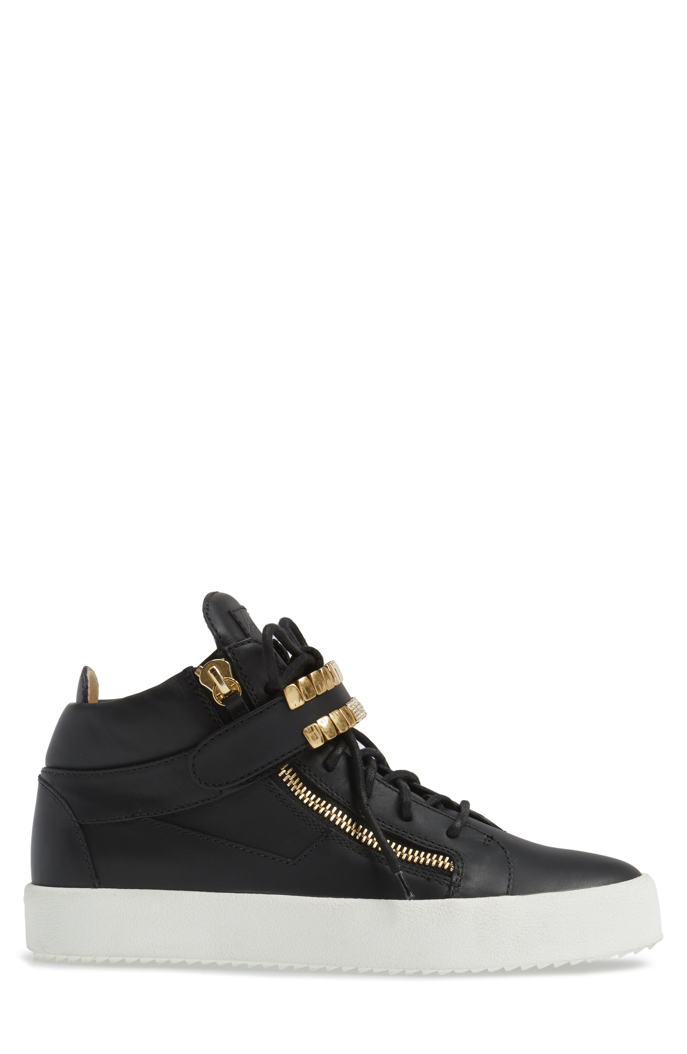 Alternate Image 3  - Giuseppe Zanotti Mid Top Sneaker (Men)
