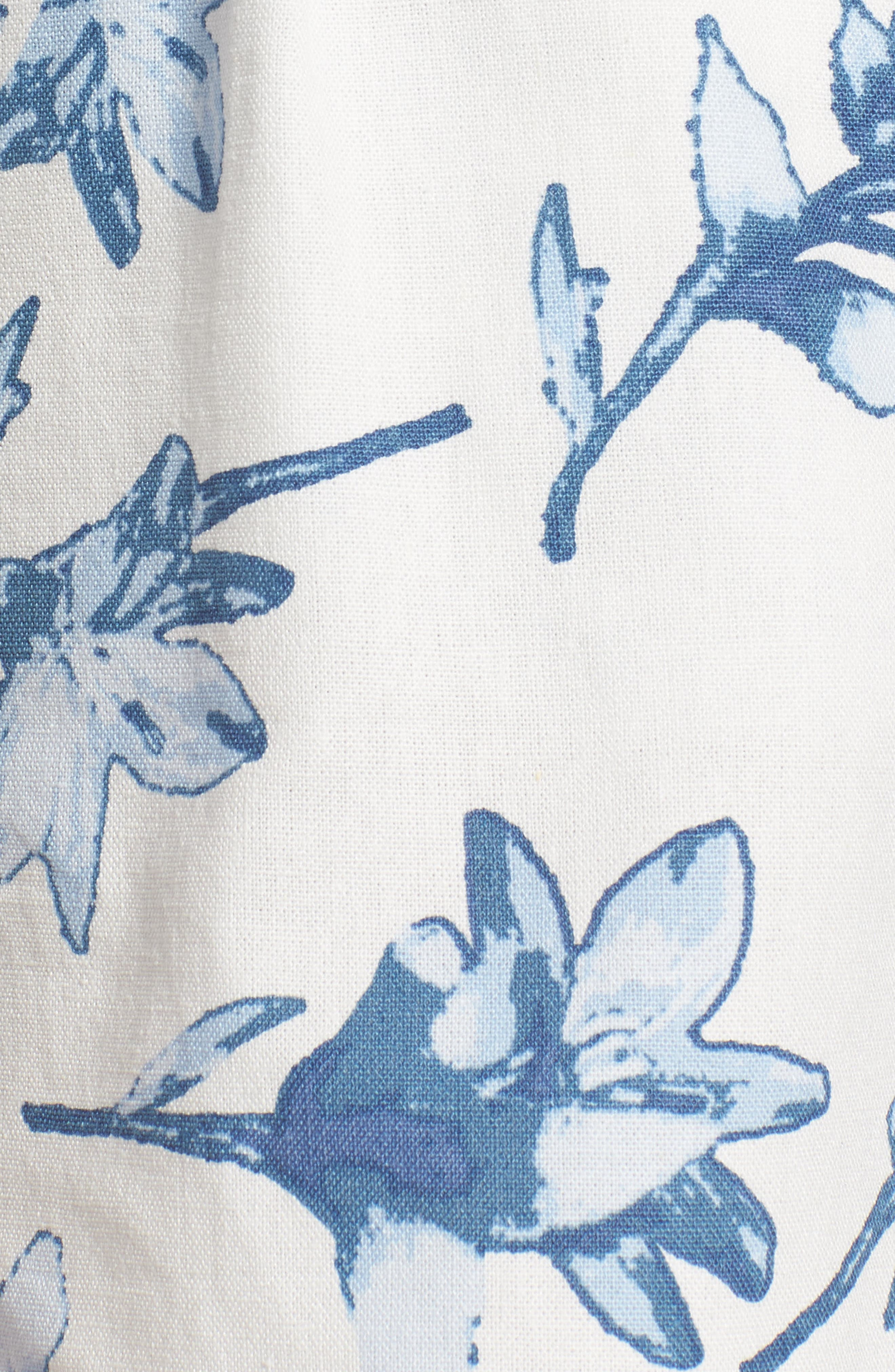 High Waist Linen Shorts,                             Alternate thumbnail 6, color,                             White