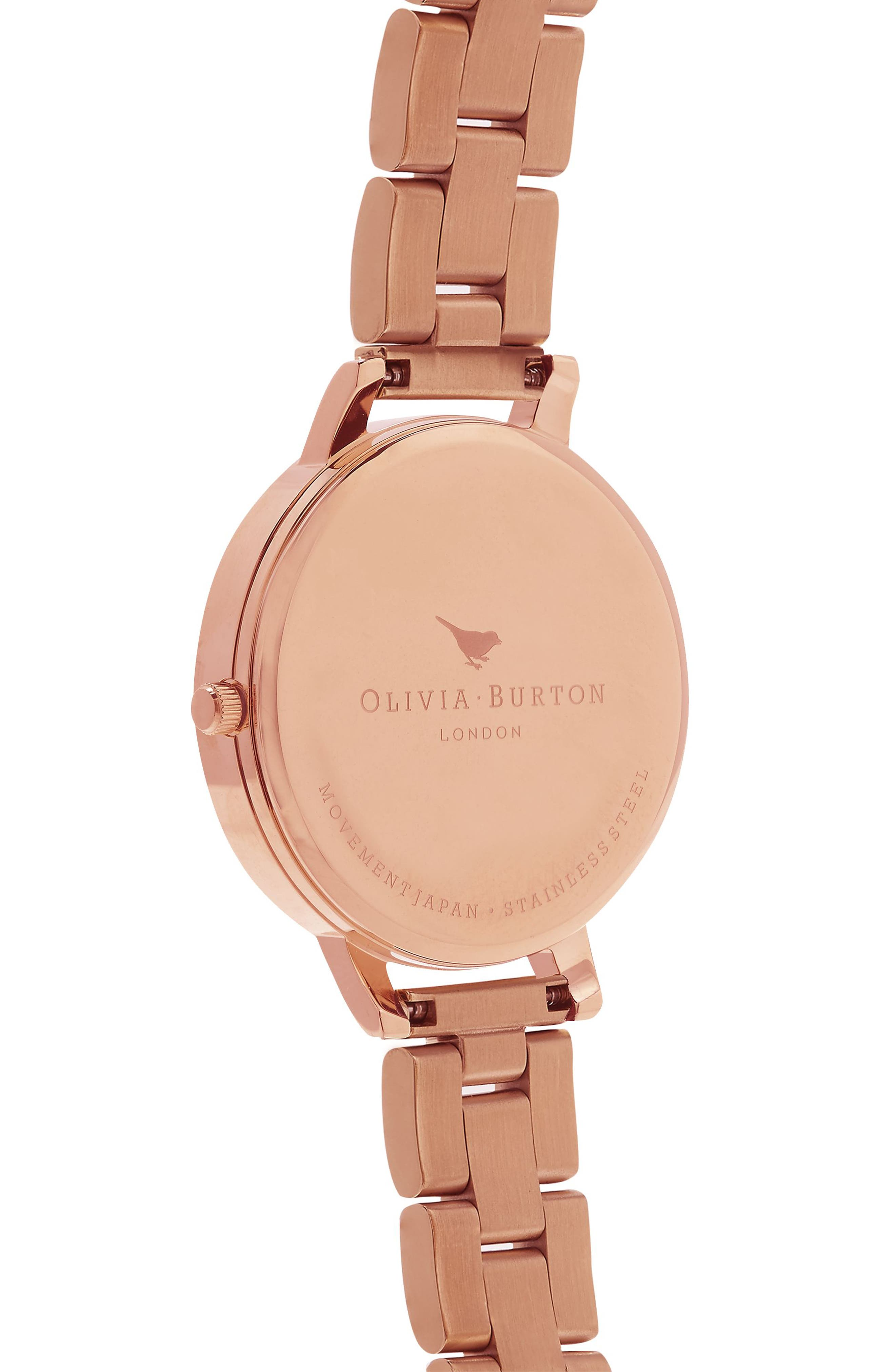 Big Dial Bracelet Watch, 38mm,                             Alternate thumbnail 3, color,                             Rose Gold/ White/ Rose Gold