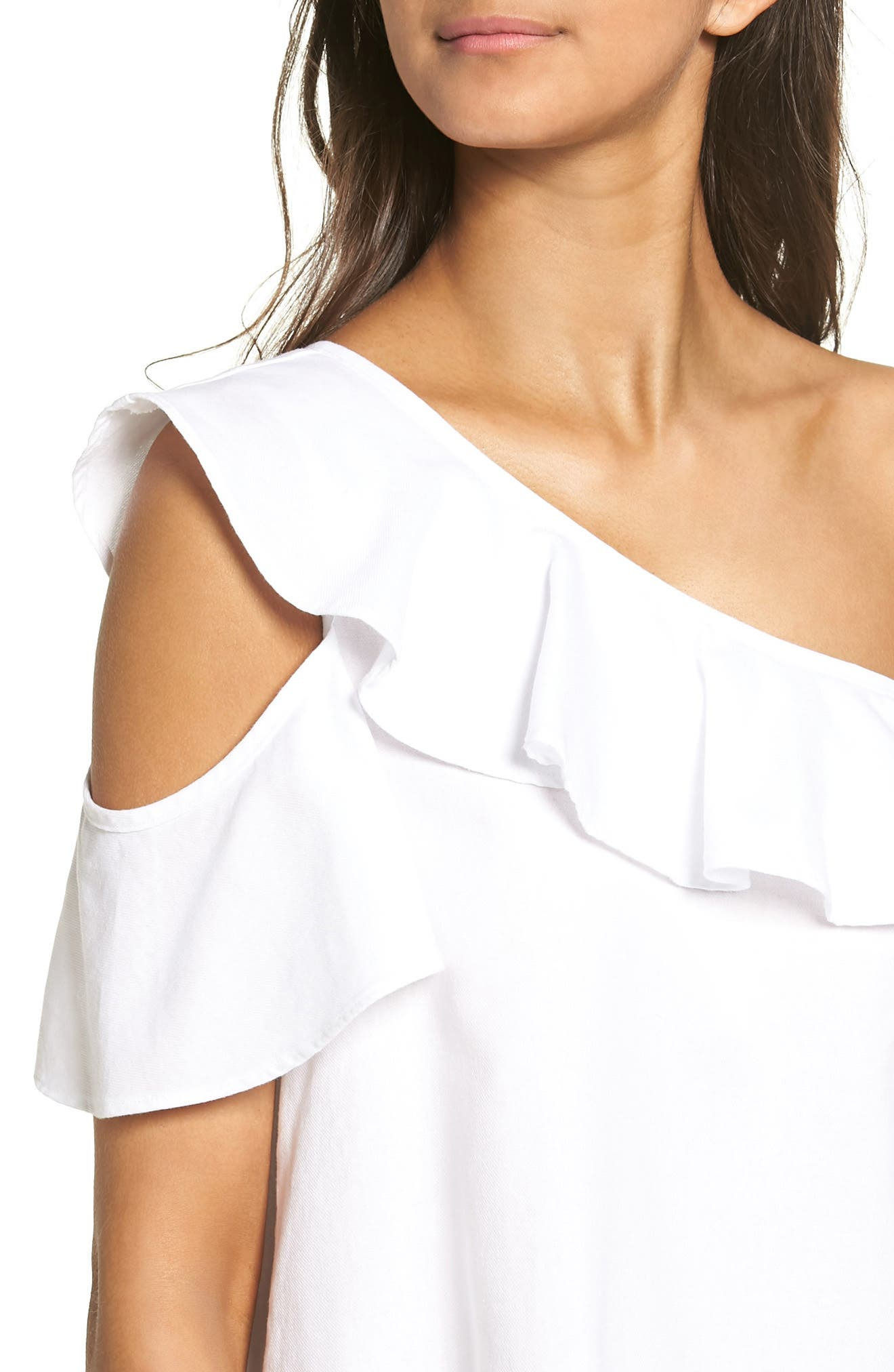 Alternate Image 4  - Madewell One Shoulder Ruffle Top