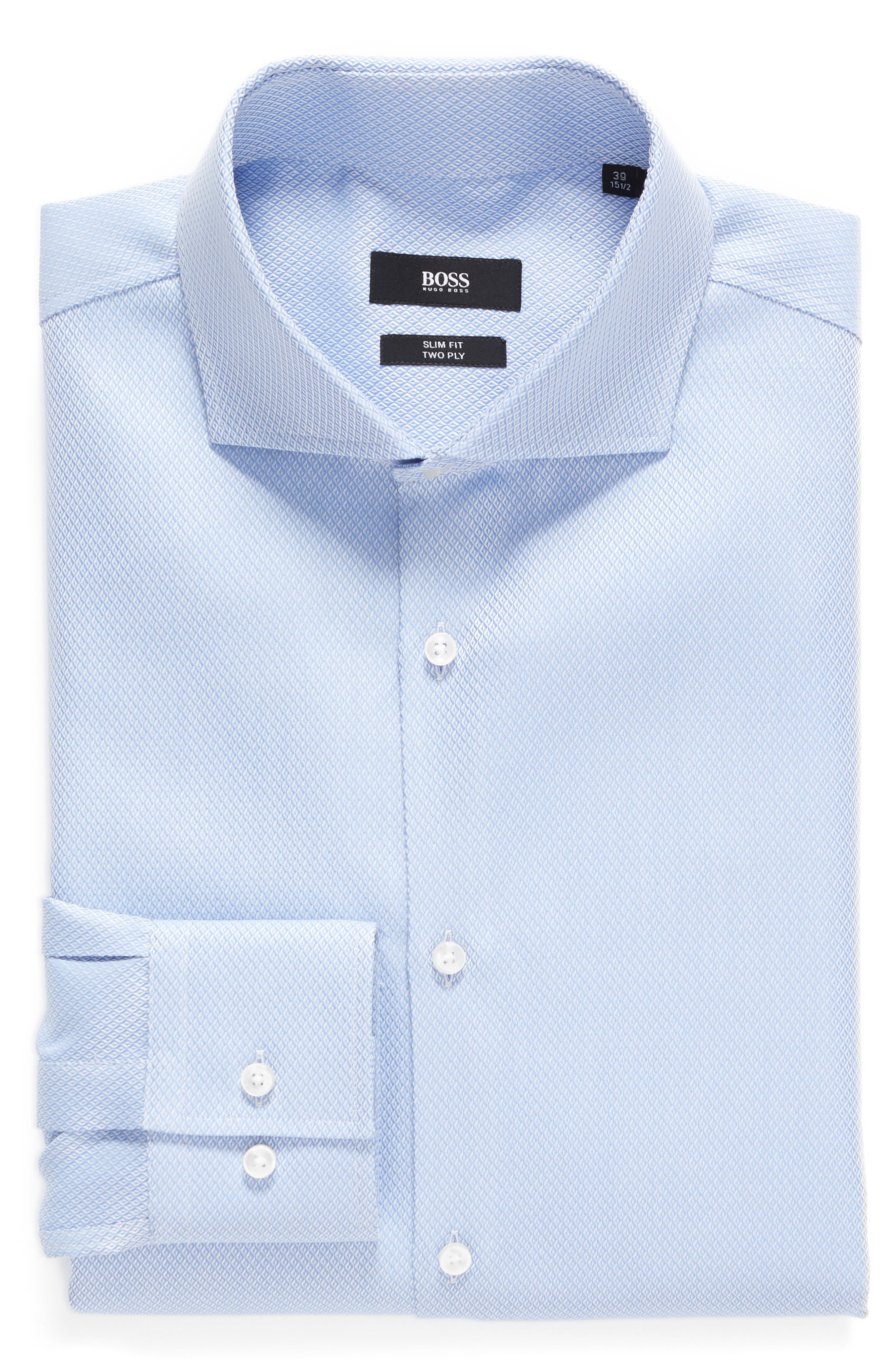 BOSS Slim Fit Solid Dress Shirt