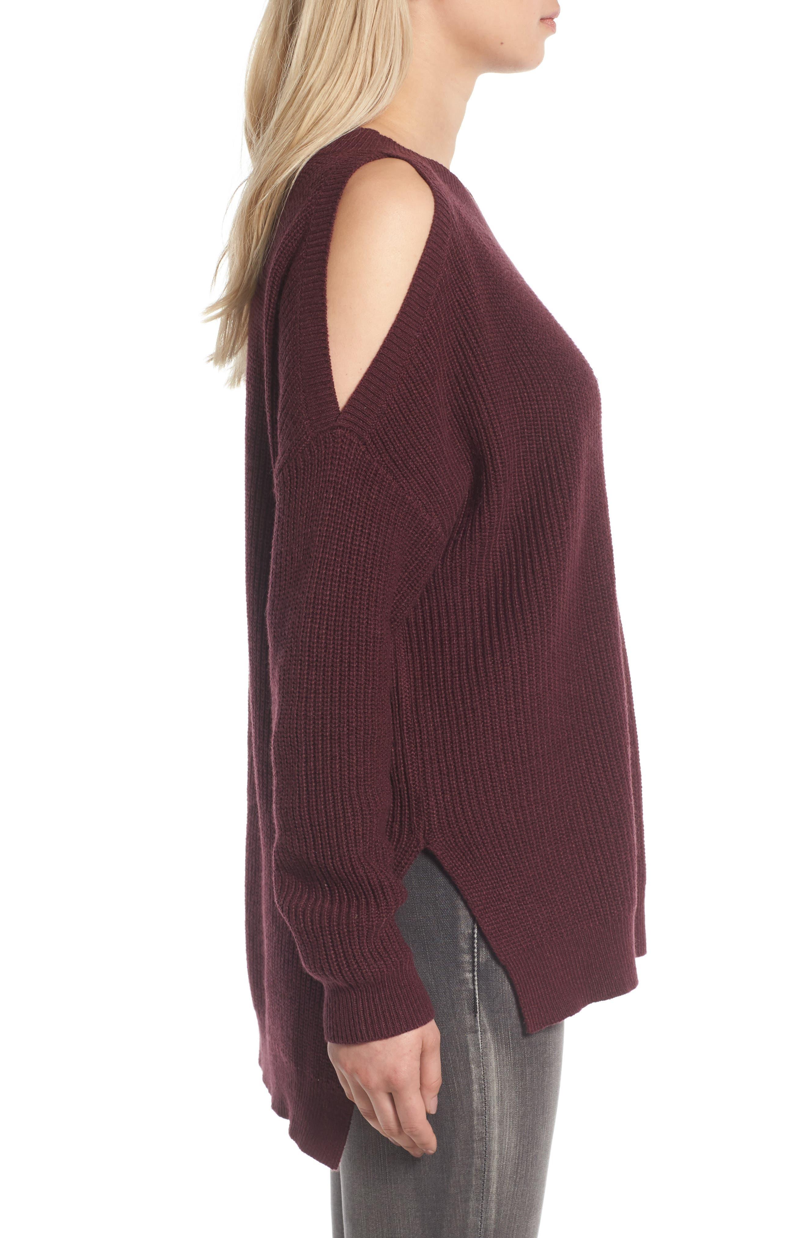 Alternate Image 3  - BP. Cold Shoulder Tunic Sweater
