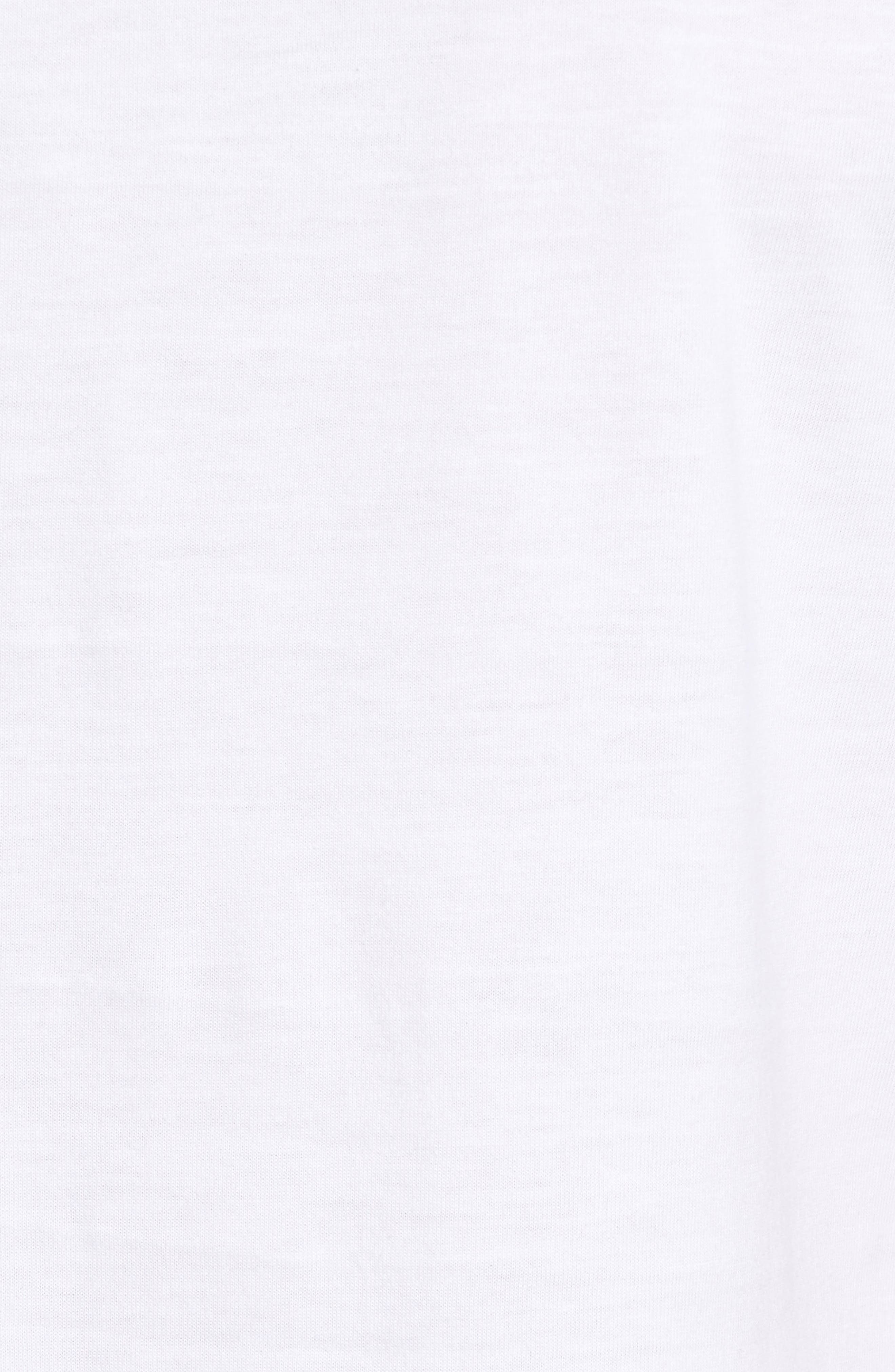 4-Pack Trim Fit Supima<sup>®</sup> Cotton Crewneck T-Shirt,                             Alternate thumbnail 6, color,                             White