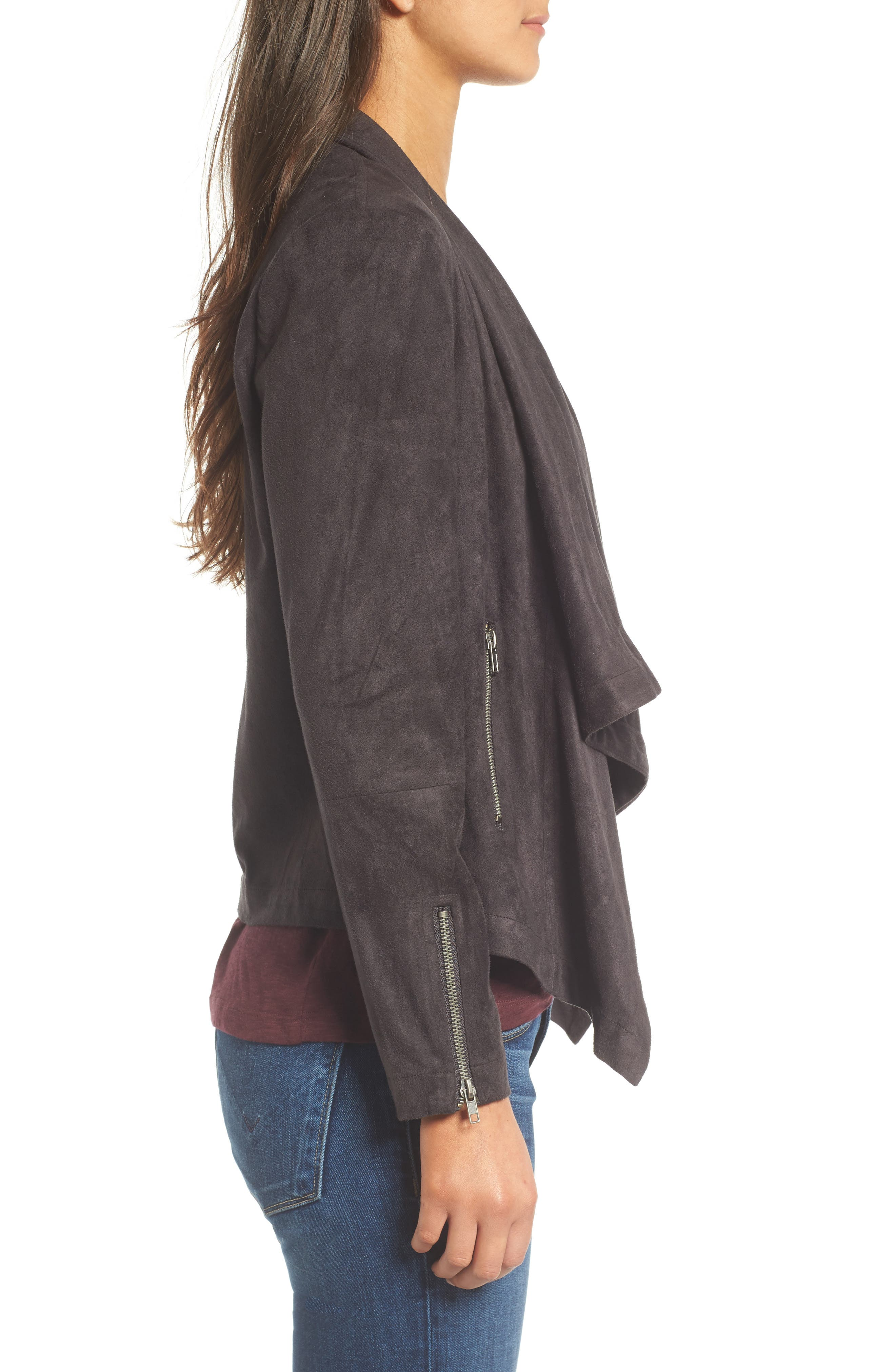 Alternate Image 3  - cupcakes and cashmere Chyla Drape Front Faux Suede Jacket