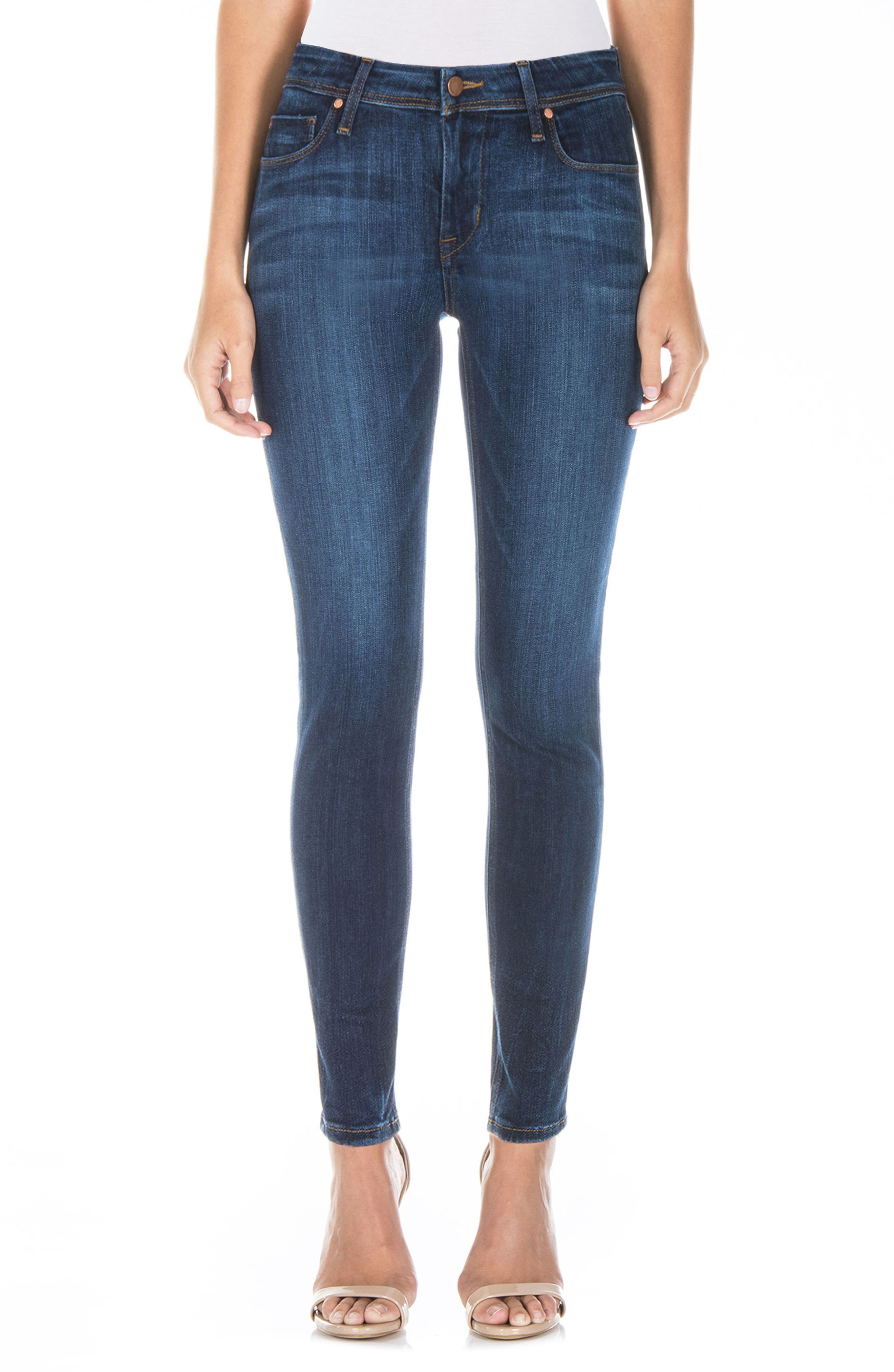 Main Image - Fidelity Denim Gwen High Waist Skinny Jeans (Falcon Blue)
