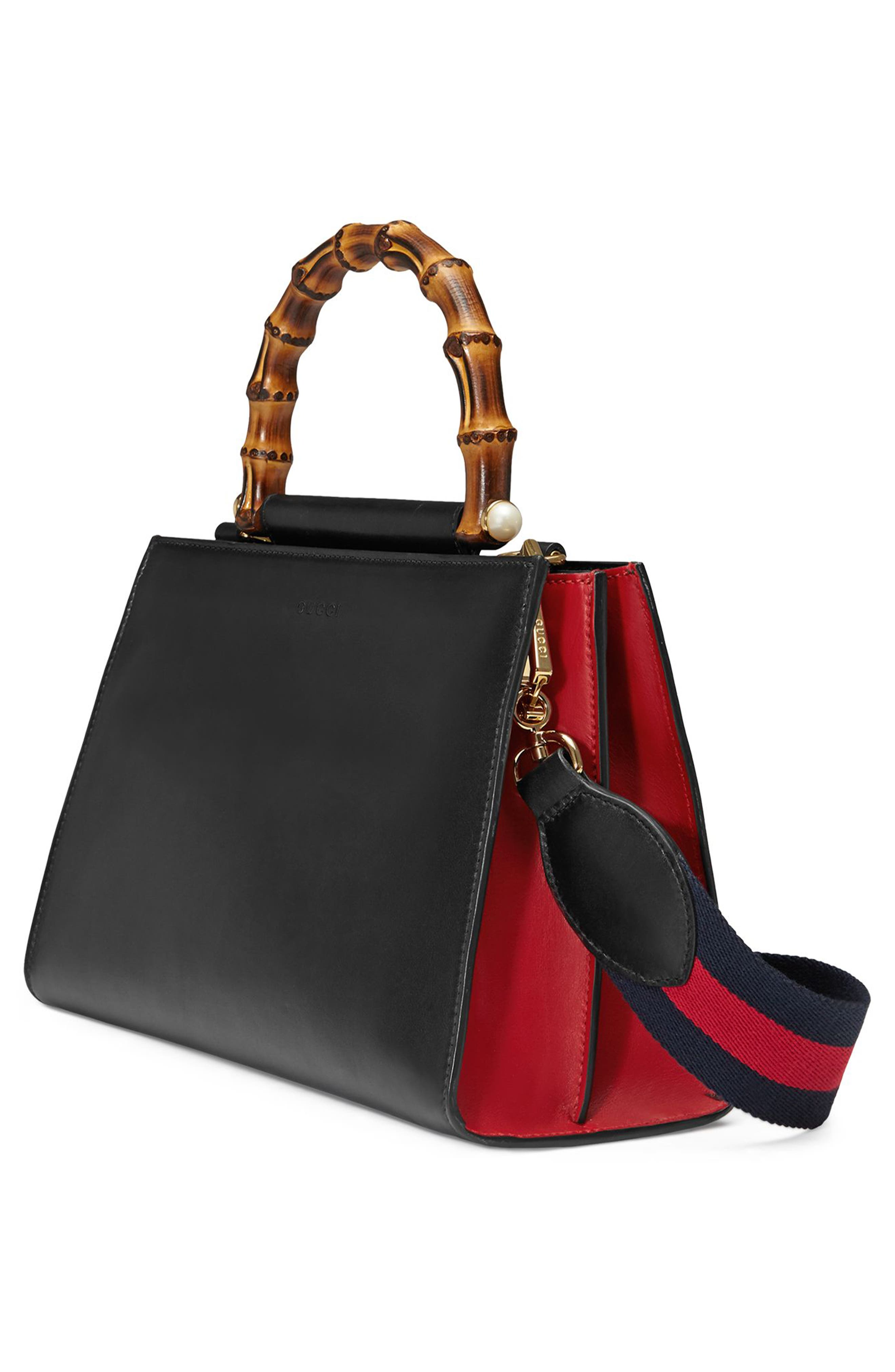 Alternate Image 4  - Gucci Medium Nymphea Bicolor Leather Top Handle Satchel