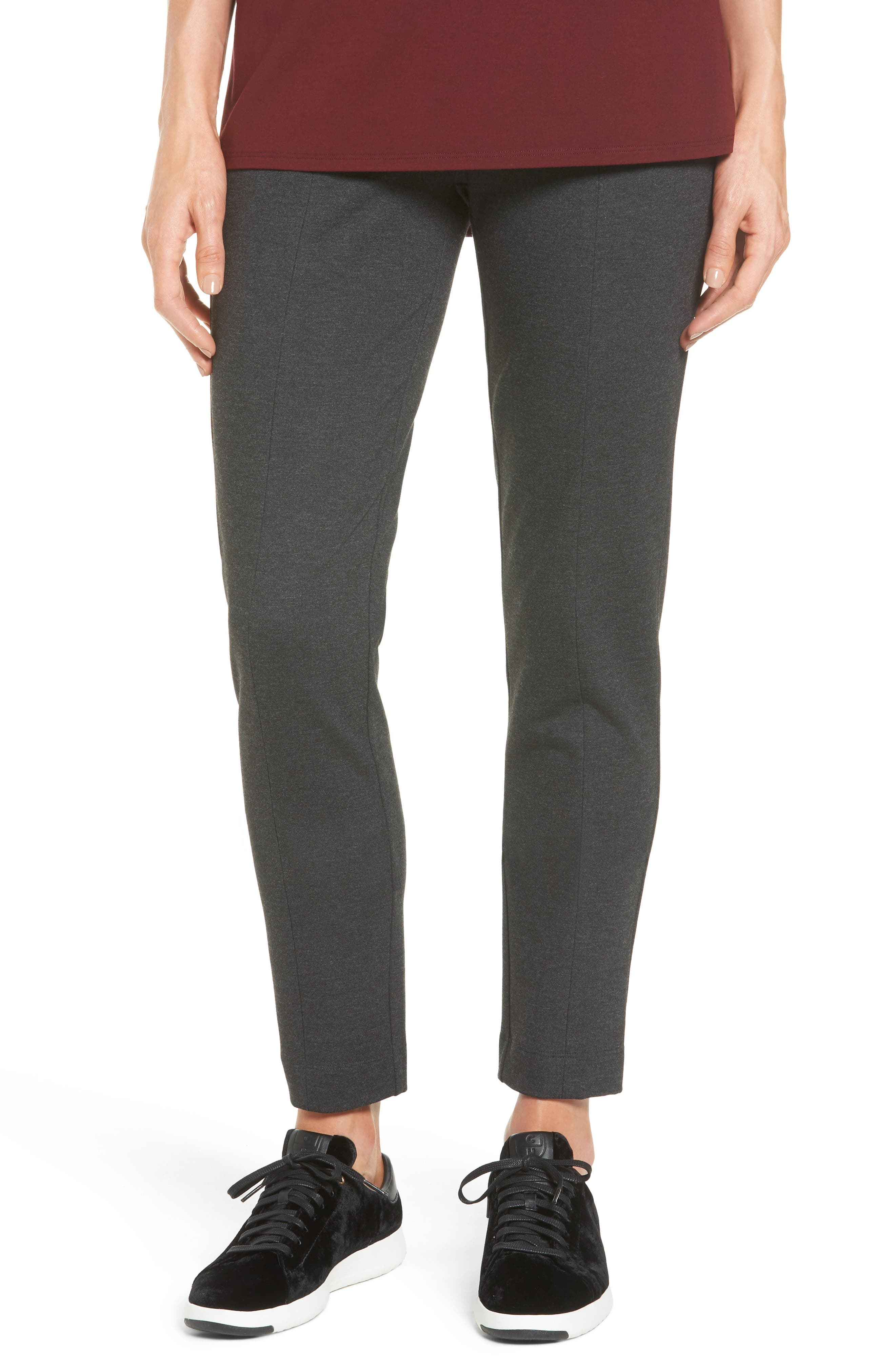 Eileen Fisher Seam Detail Pull-On Pants (Regular & Petite)