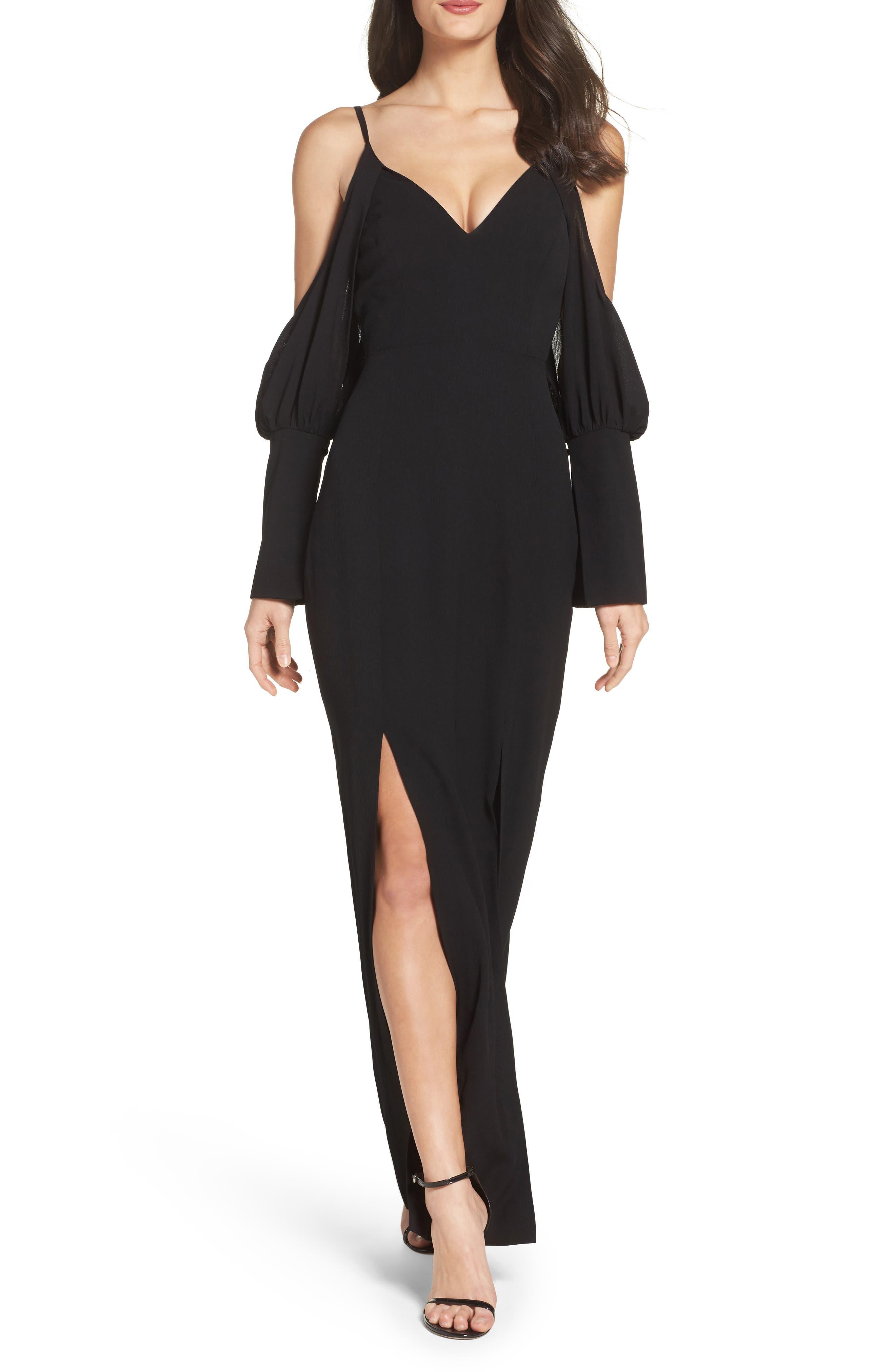 C/MEO Collective No Reason Cold Shoulder Maxi Dress