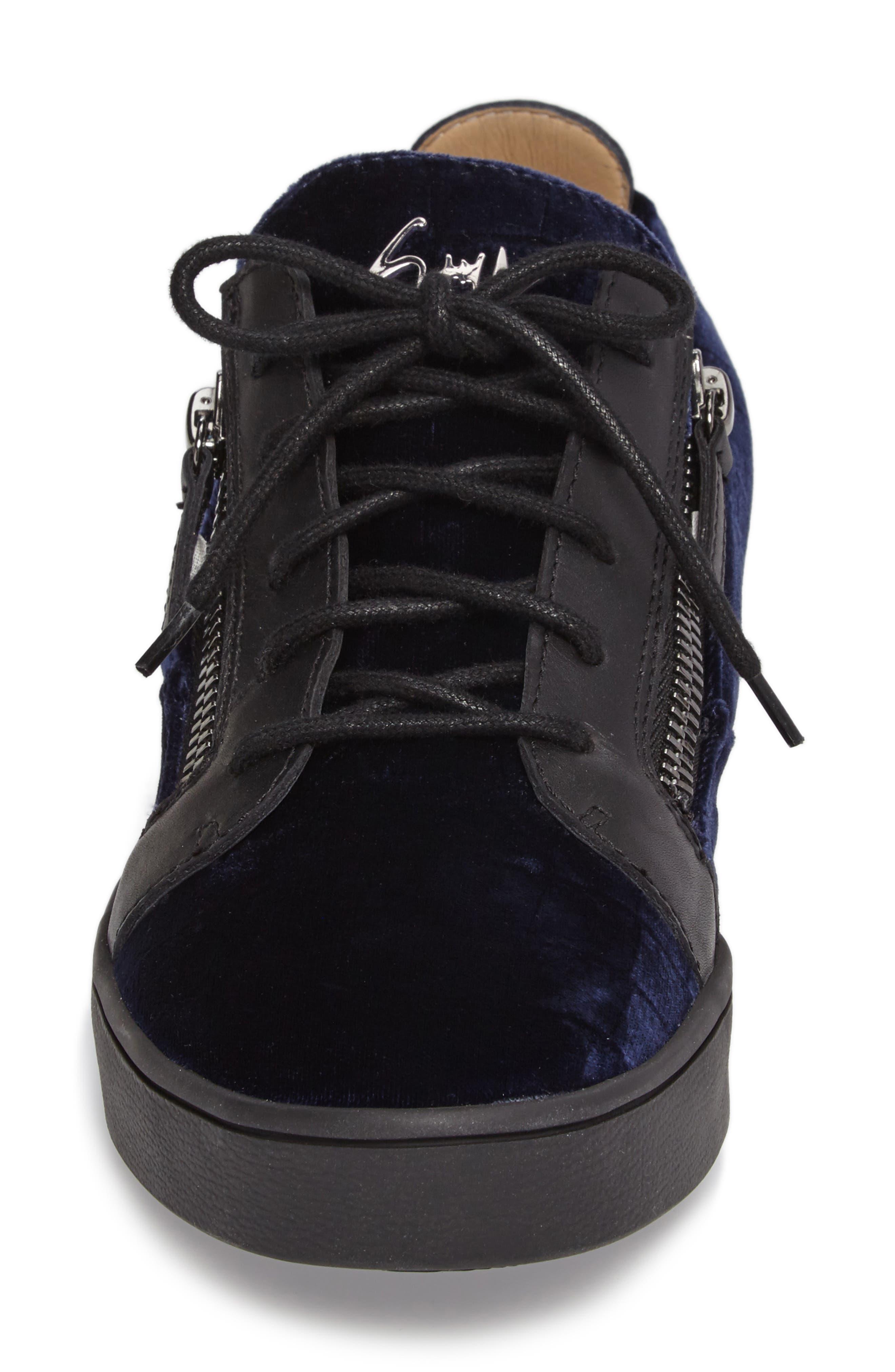 Low Top Sneaker,                             Alternate thumbnail 4, color,                             Navy