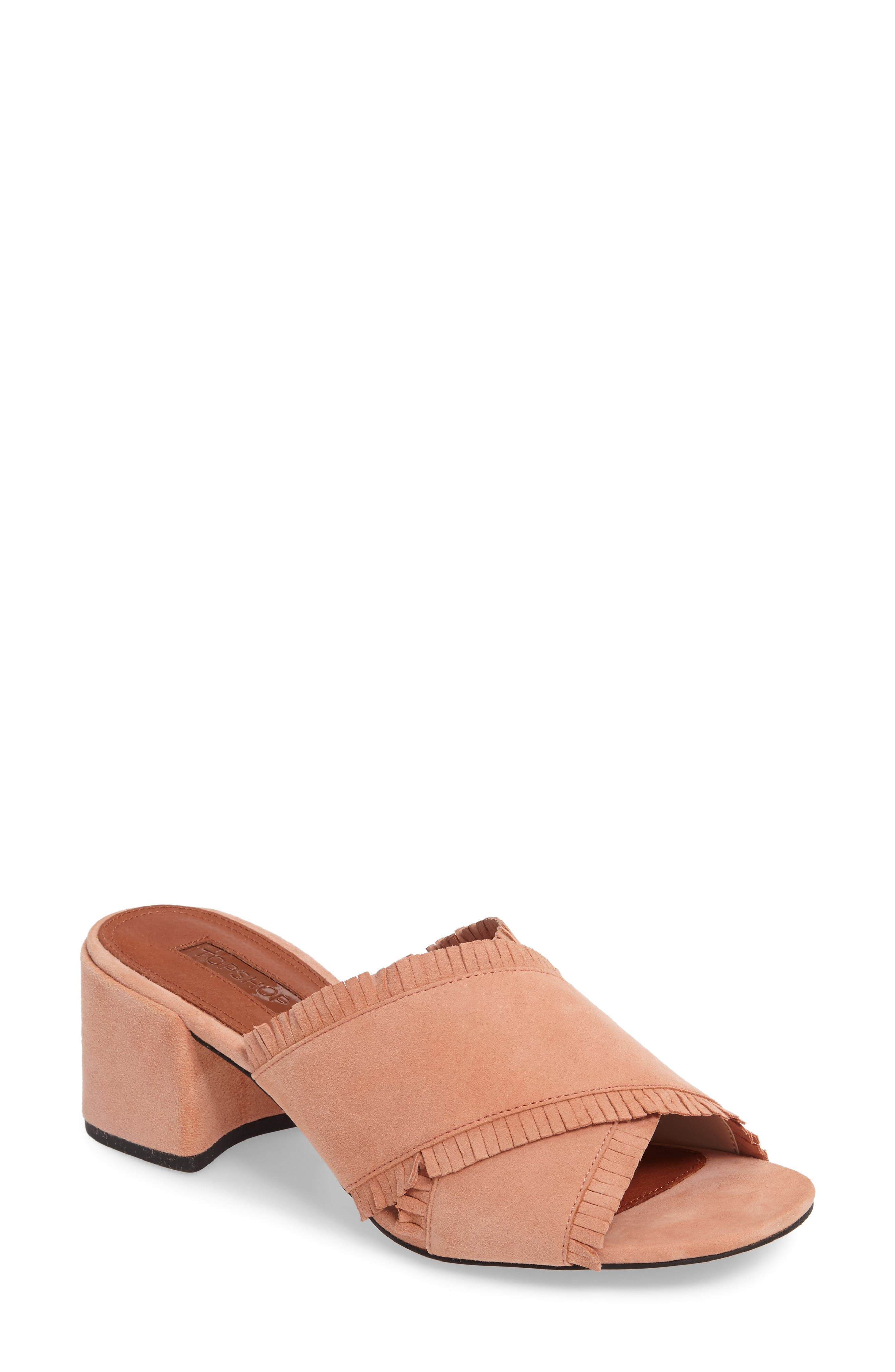 Topshop Nancy Fringe Sandal (Women)