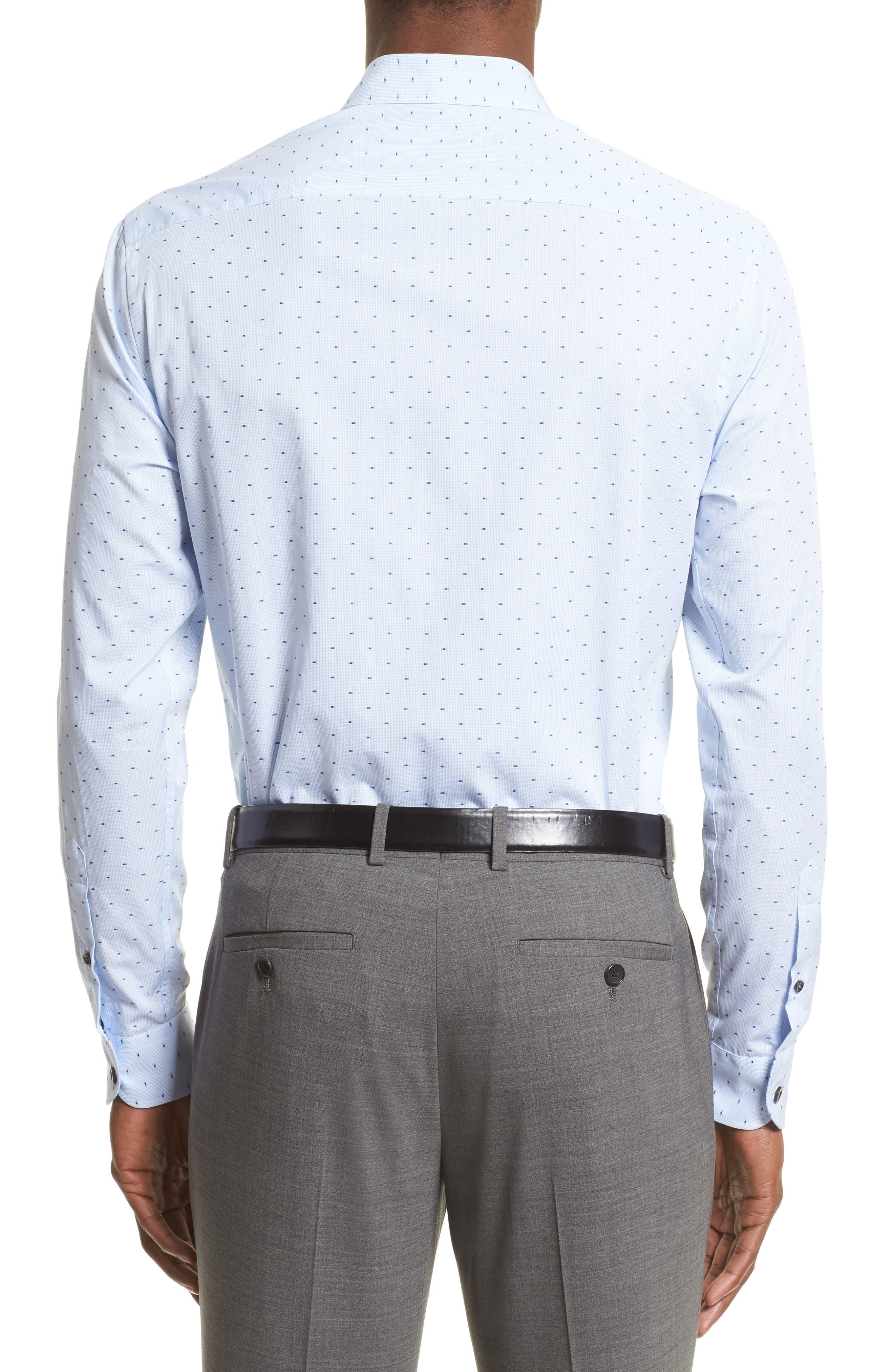 Regular Fit Print Sport Shirt,                             Alternate thumbnail 2, color,                             Blue
