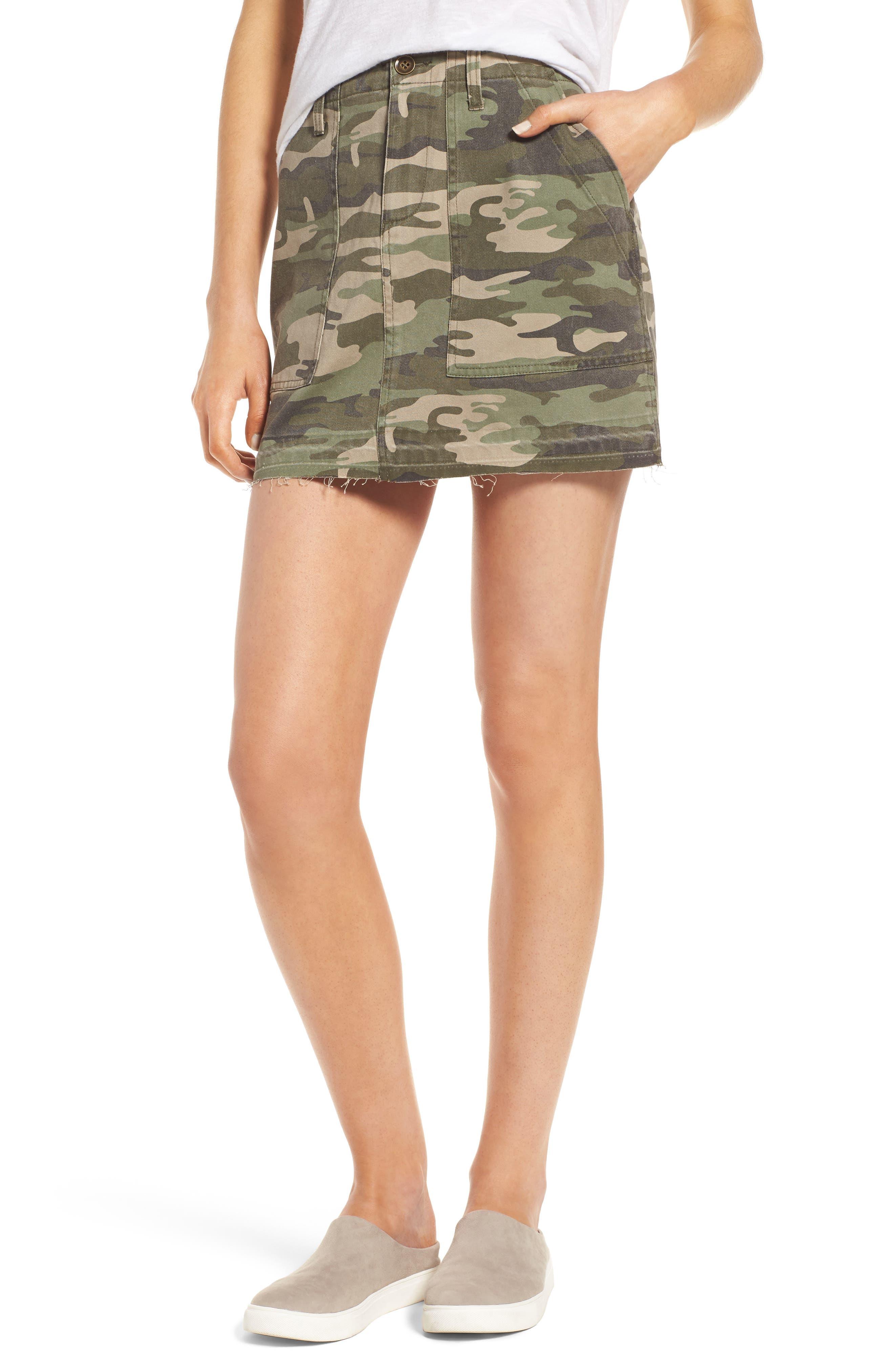 Main Image - Sanctuary Safari Camo Skirt
