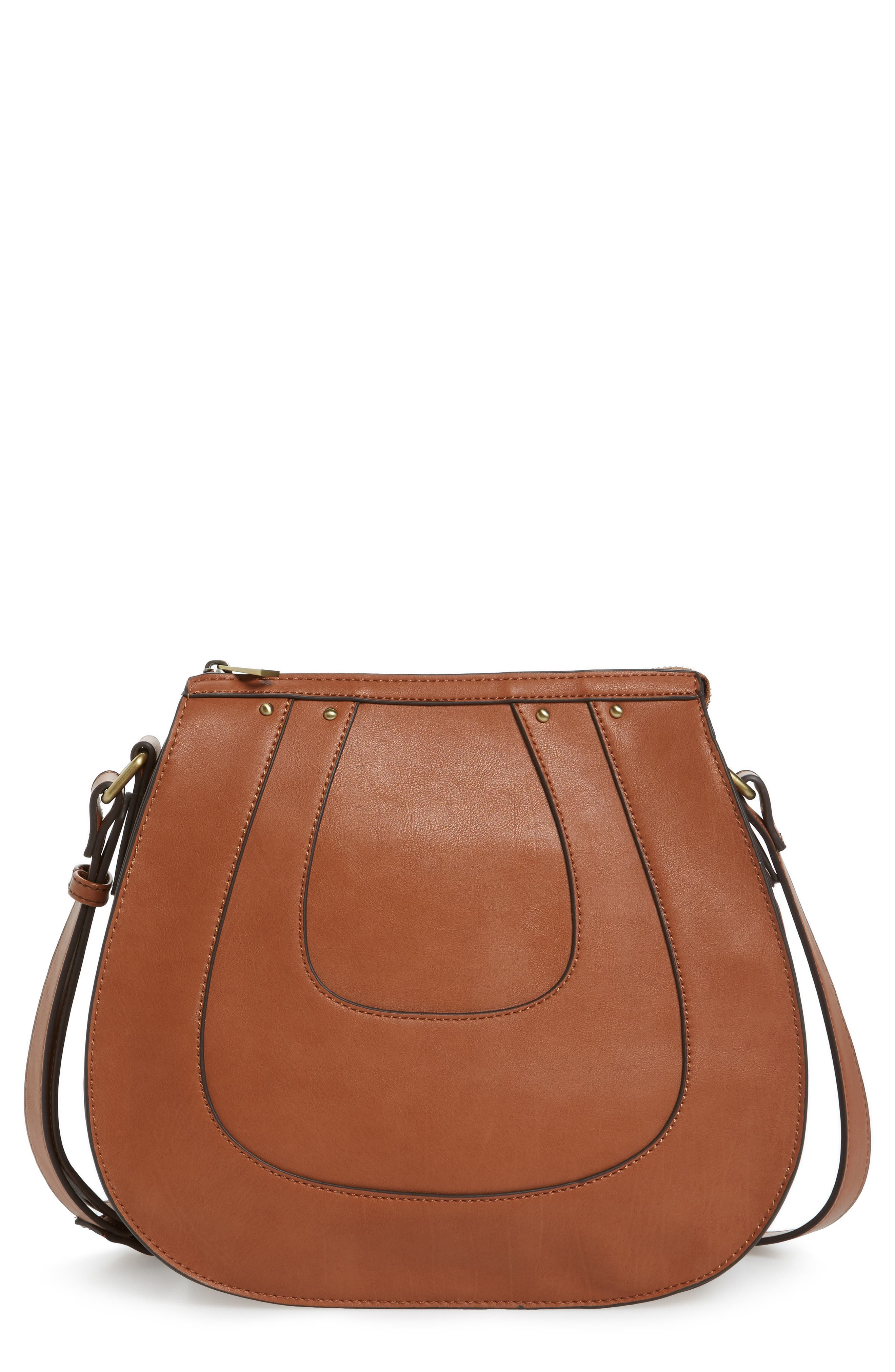 SOLE SOCIETY Korah Faux Leather Saddle Bag