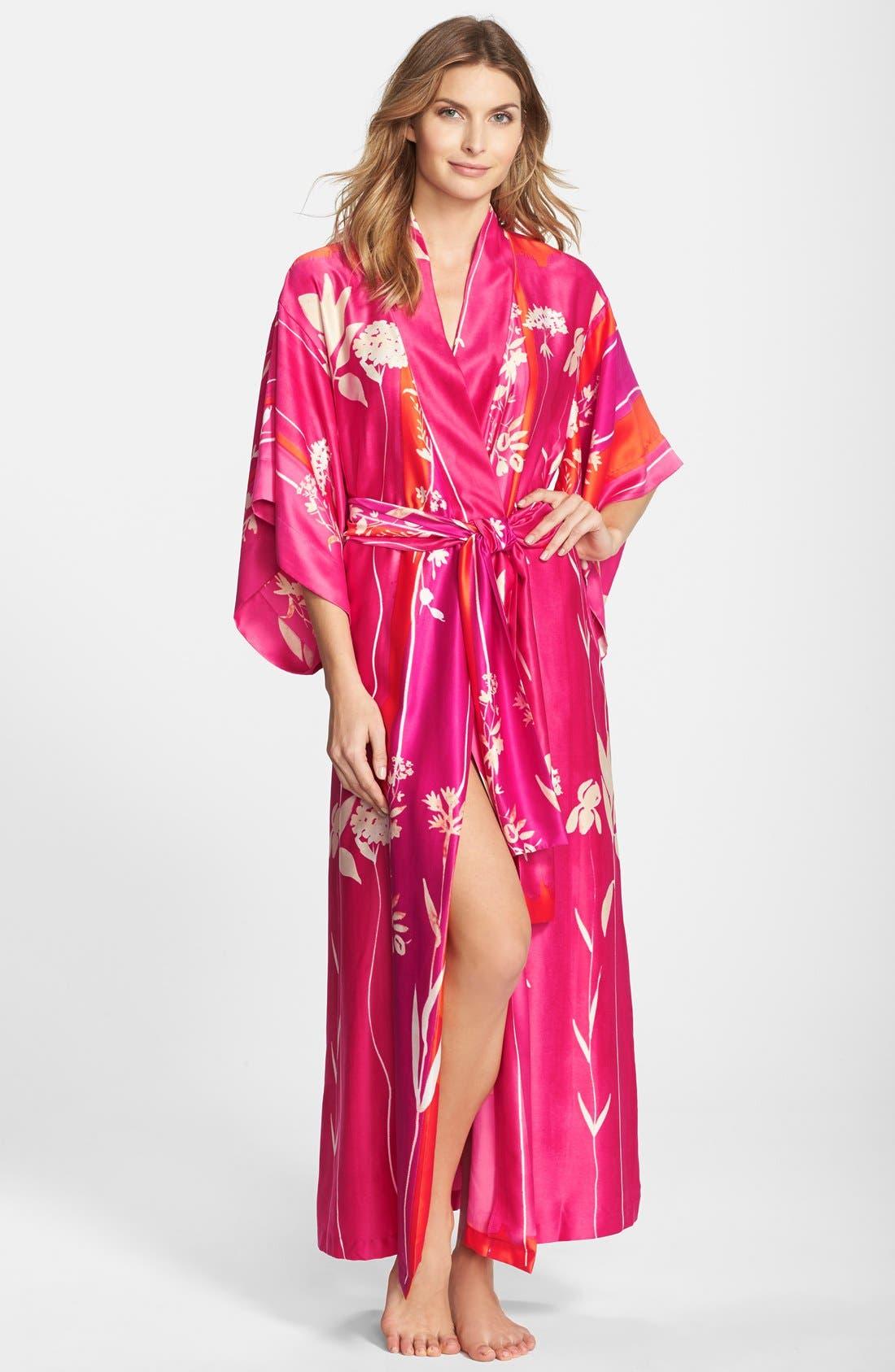 Alternate Image 1 Selected - Natori 'Izabella' Satin Robe