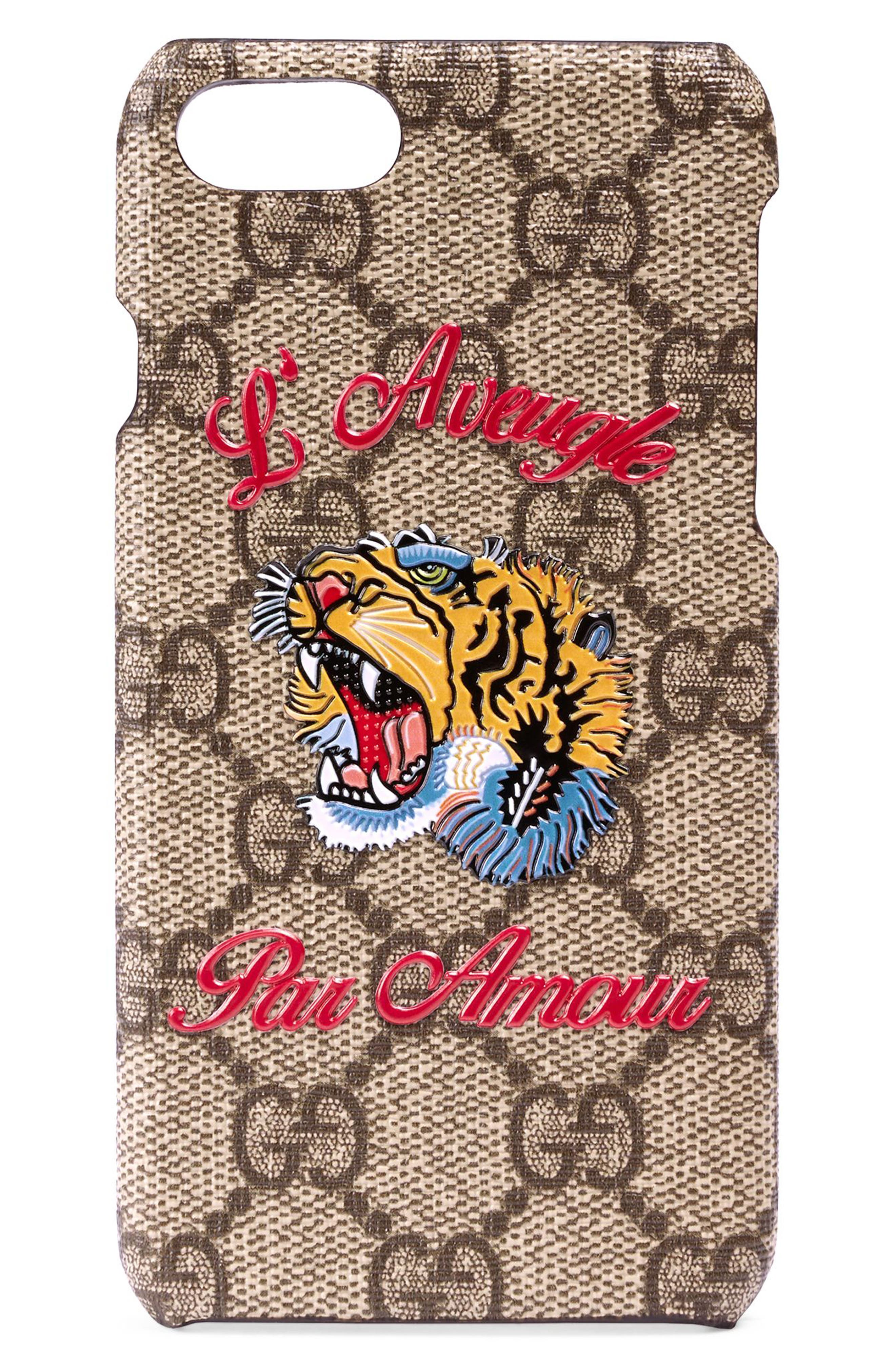 Gucci L'Aveugle Par Amour GG Tiger iPhone 7 Case