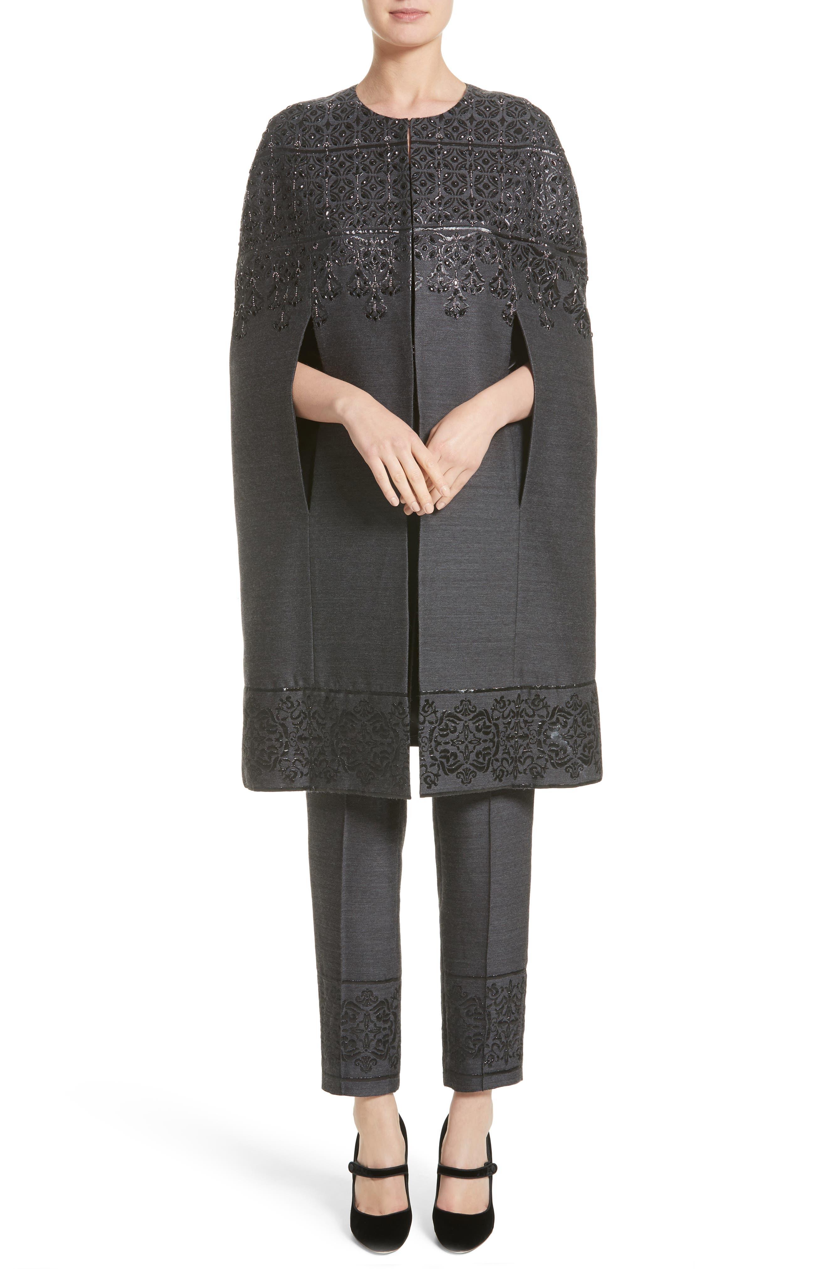 Alternate Image 7  - St. John Collection Shavari Jacquard Crop Pants