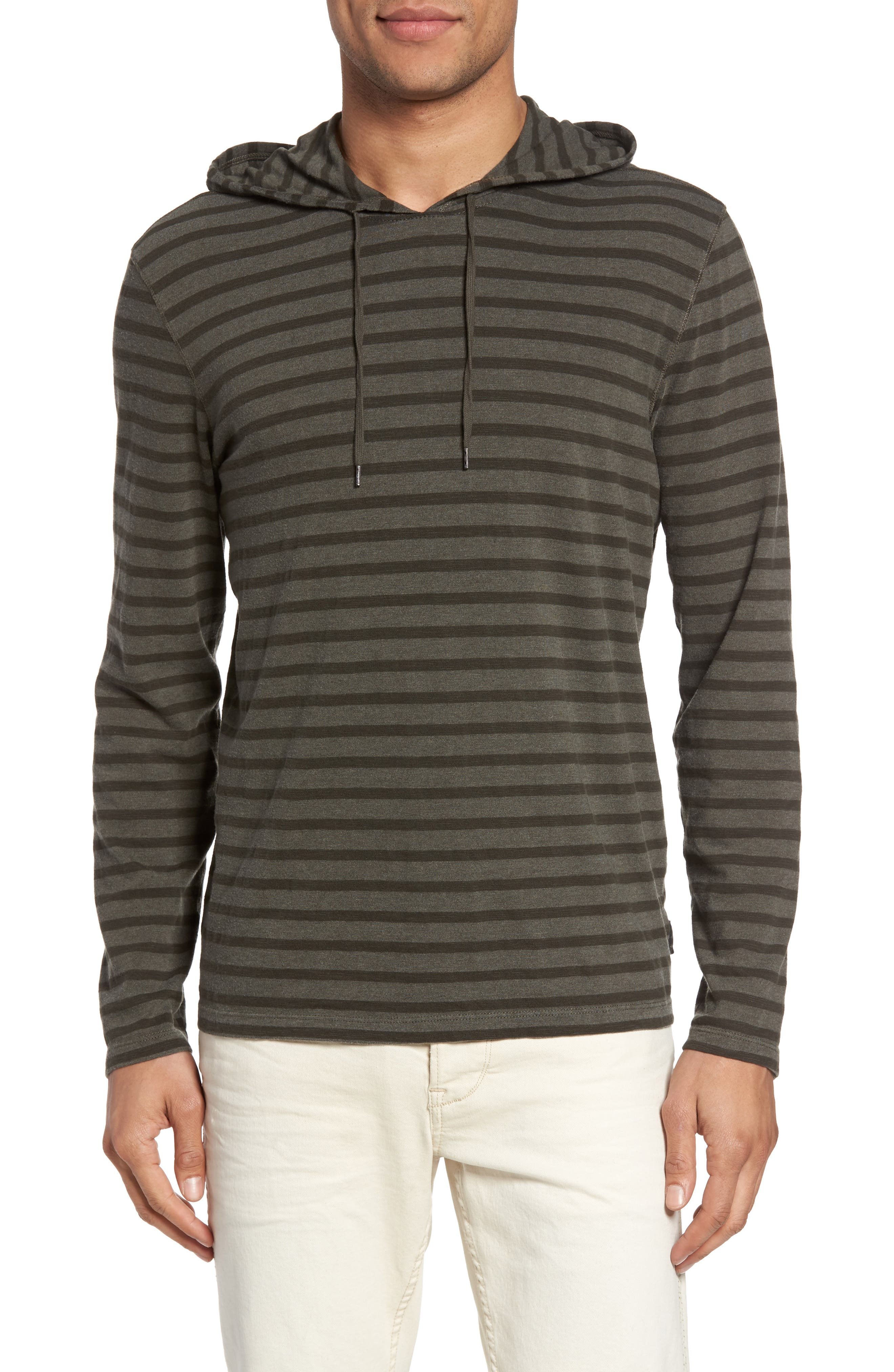 Stripe Hoodie,                             Main thumbnail 1, color,                             Olive