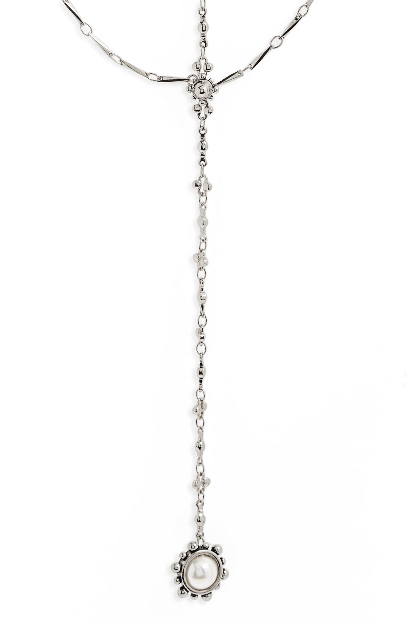Lariat Necklace,                             Alternate thumbnail 3, color,                             Silver