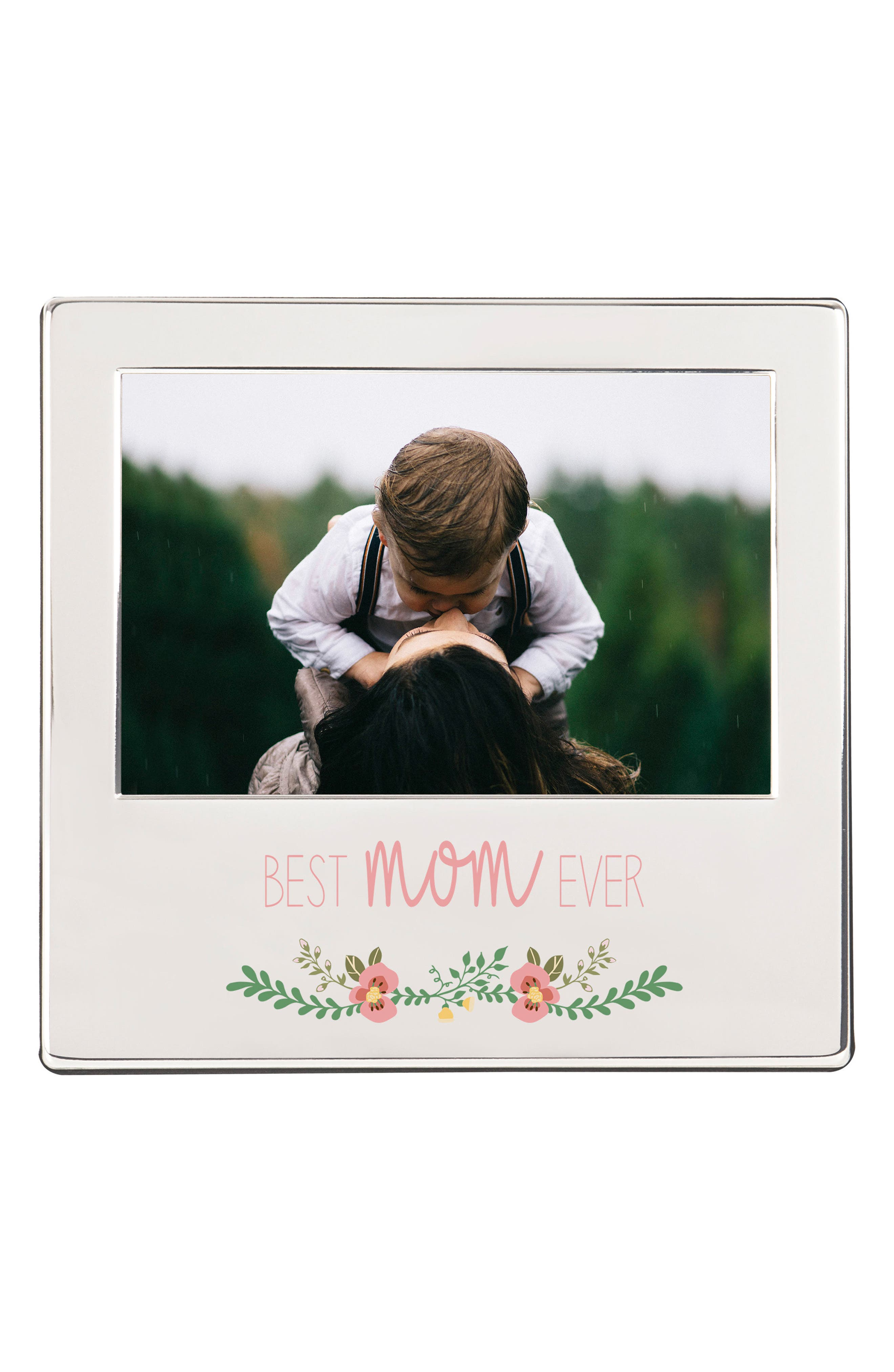 Mother's Day Silver Picture Frame,                             Main thumbnail 1, color,                             Metallic Silver