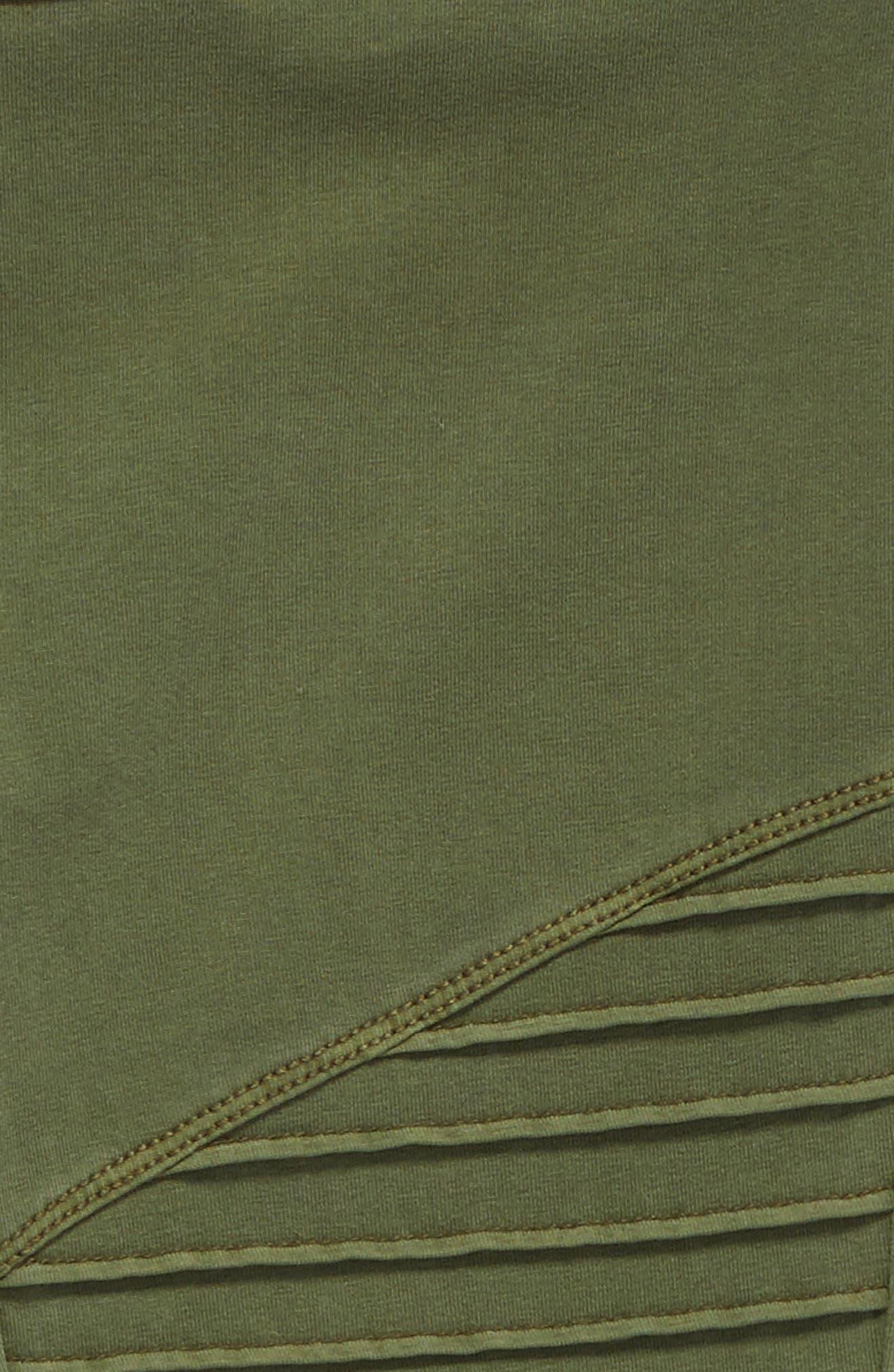 High Waist Moto Pants,                             Alternate thumbnail 2, color,                             Olive Burnt Wash