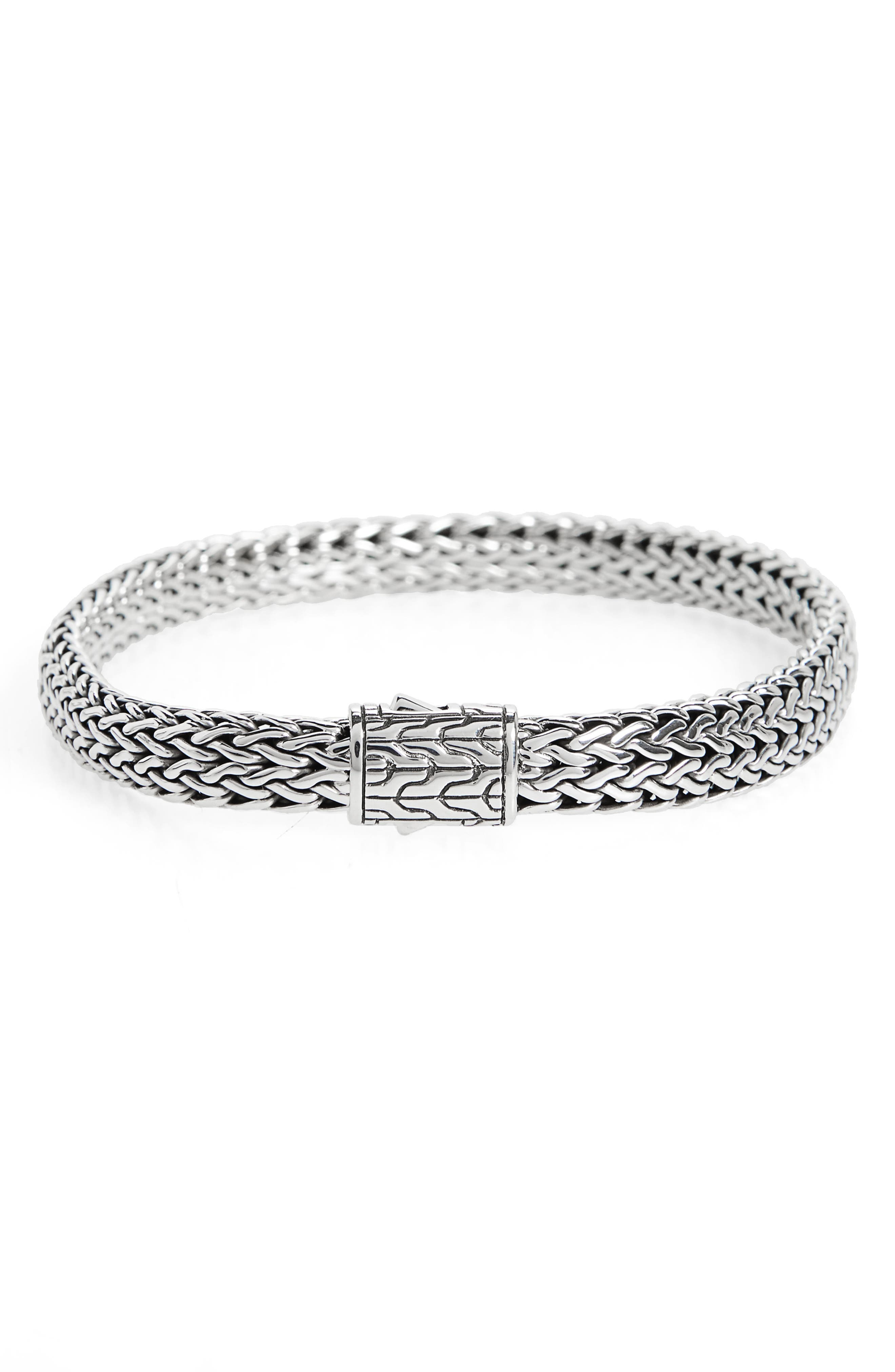 Classic Chain 6.5mm Bracelet,                         Main,                         color, Silver