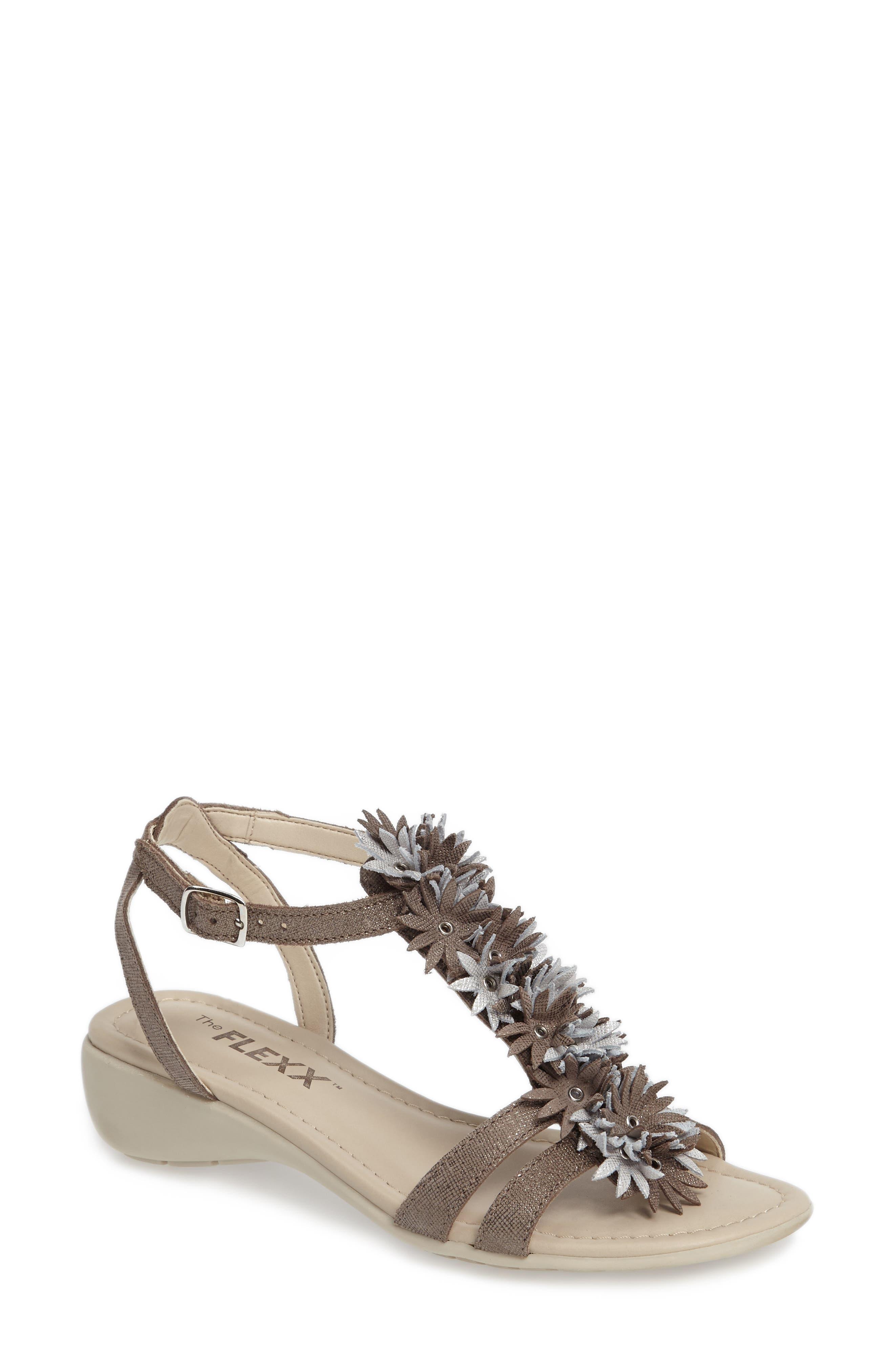 Glad All Over Sandal,                         Main,                         color, Canna Di Fucile/ Silver Fabric