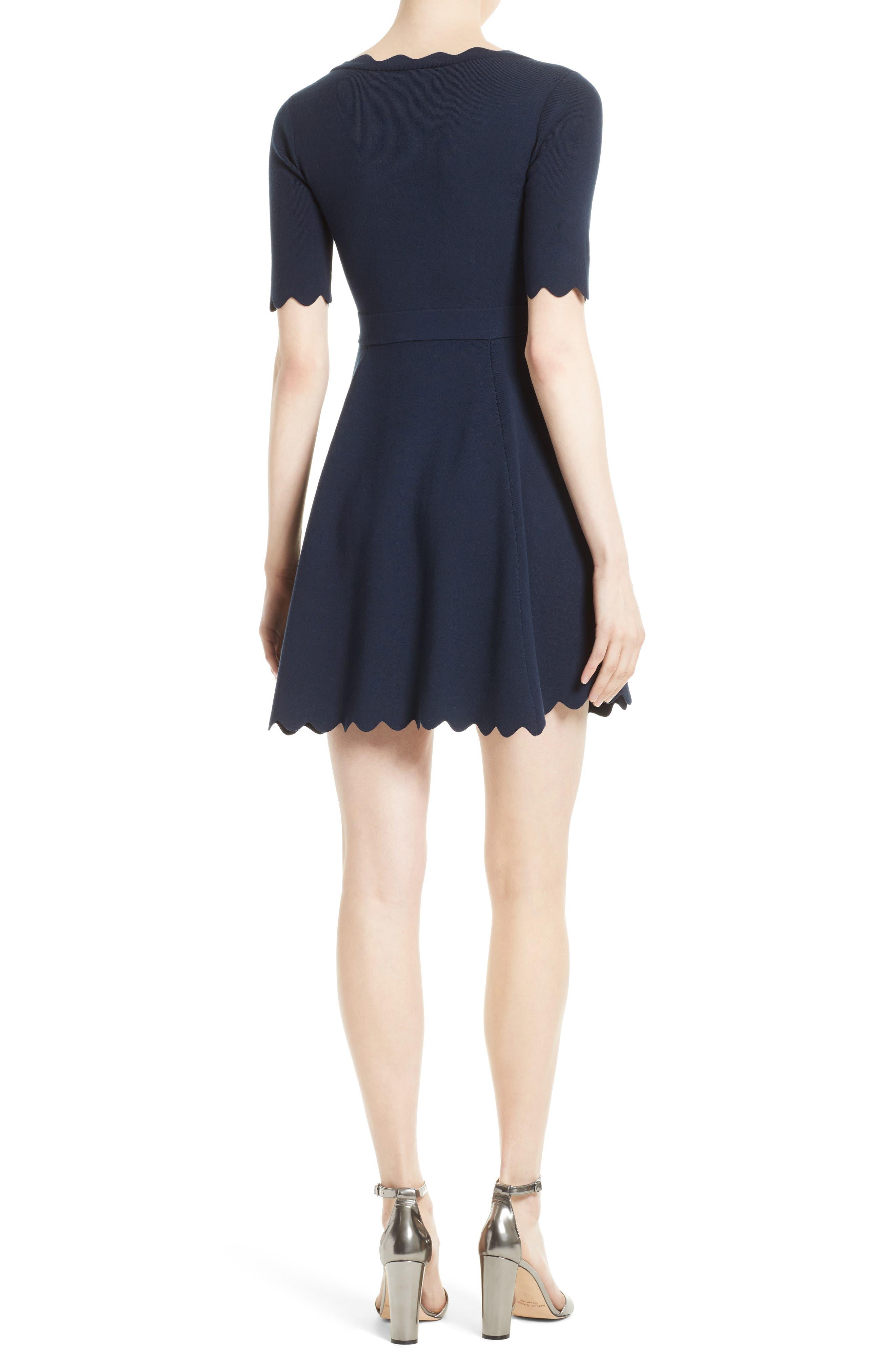 Alternate Image 2  - Milly Fit & Flare Knit Dress