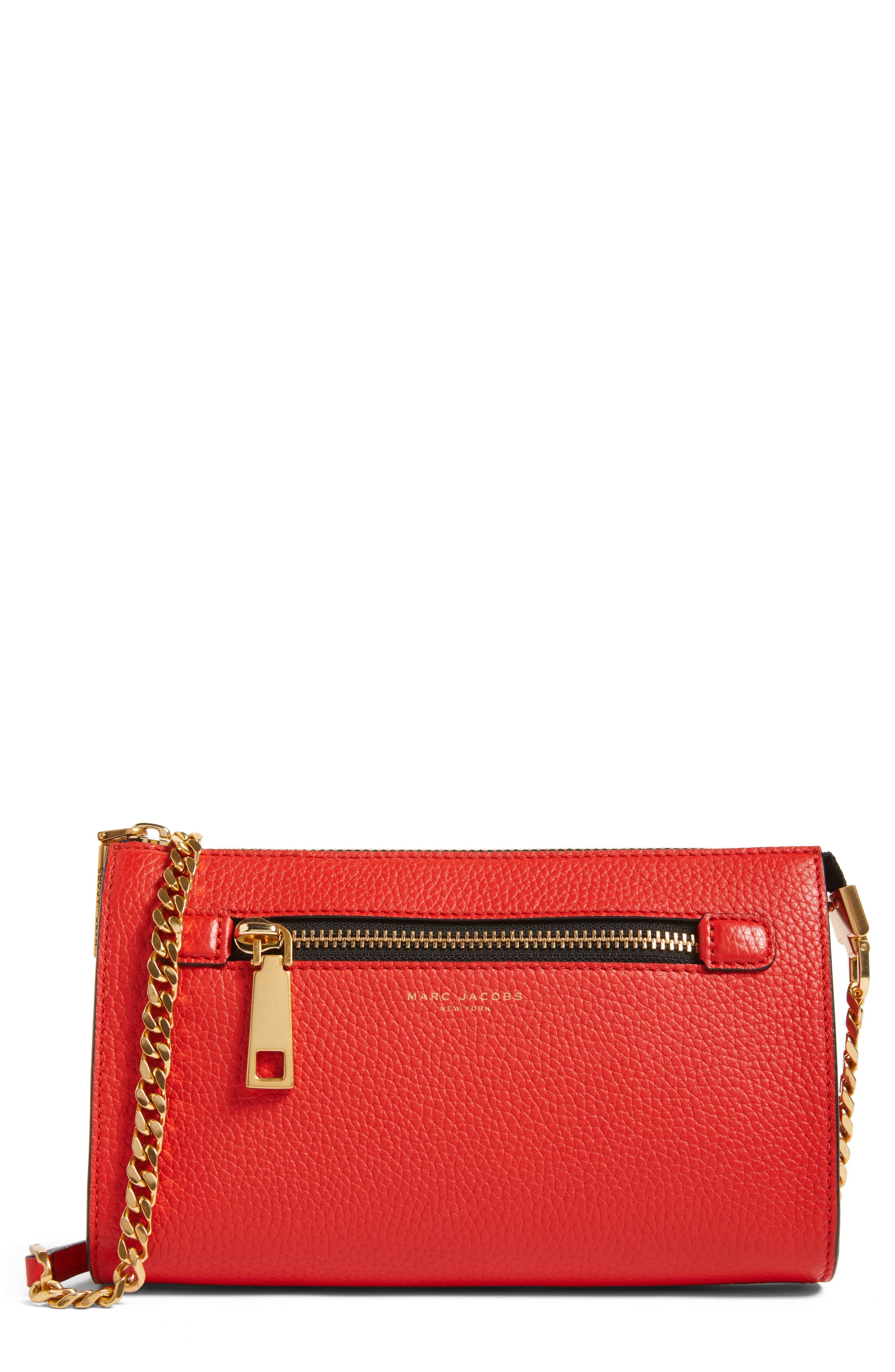 Alternate Image 1 Selected - MARC JACOBS Small Gotham Leather Crossbody Wallet (Nordstrom Exclusive)