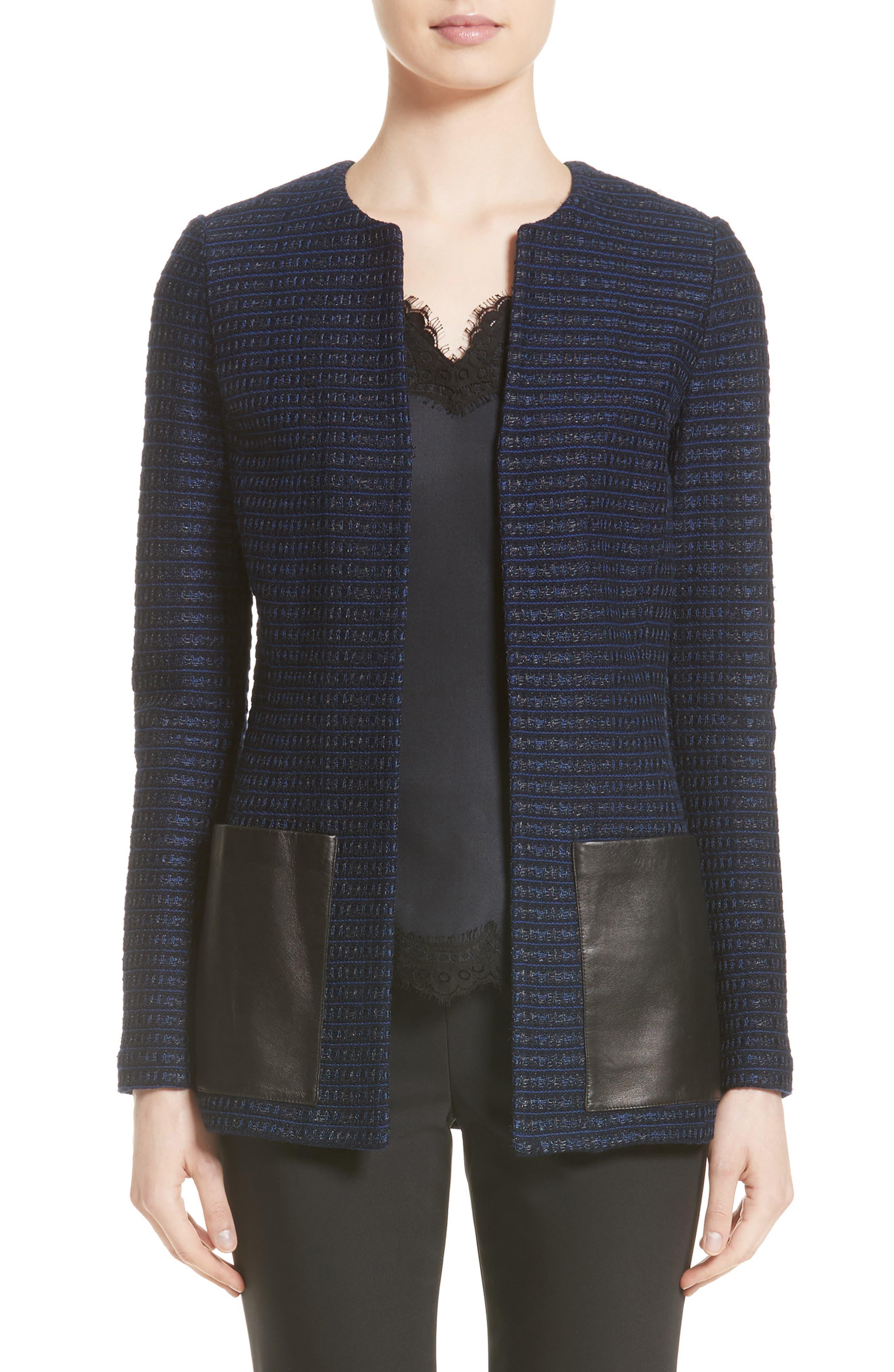 ST. JOHN COLLECTION Glazed Ribbon Tweed Knit Jacket