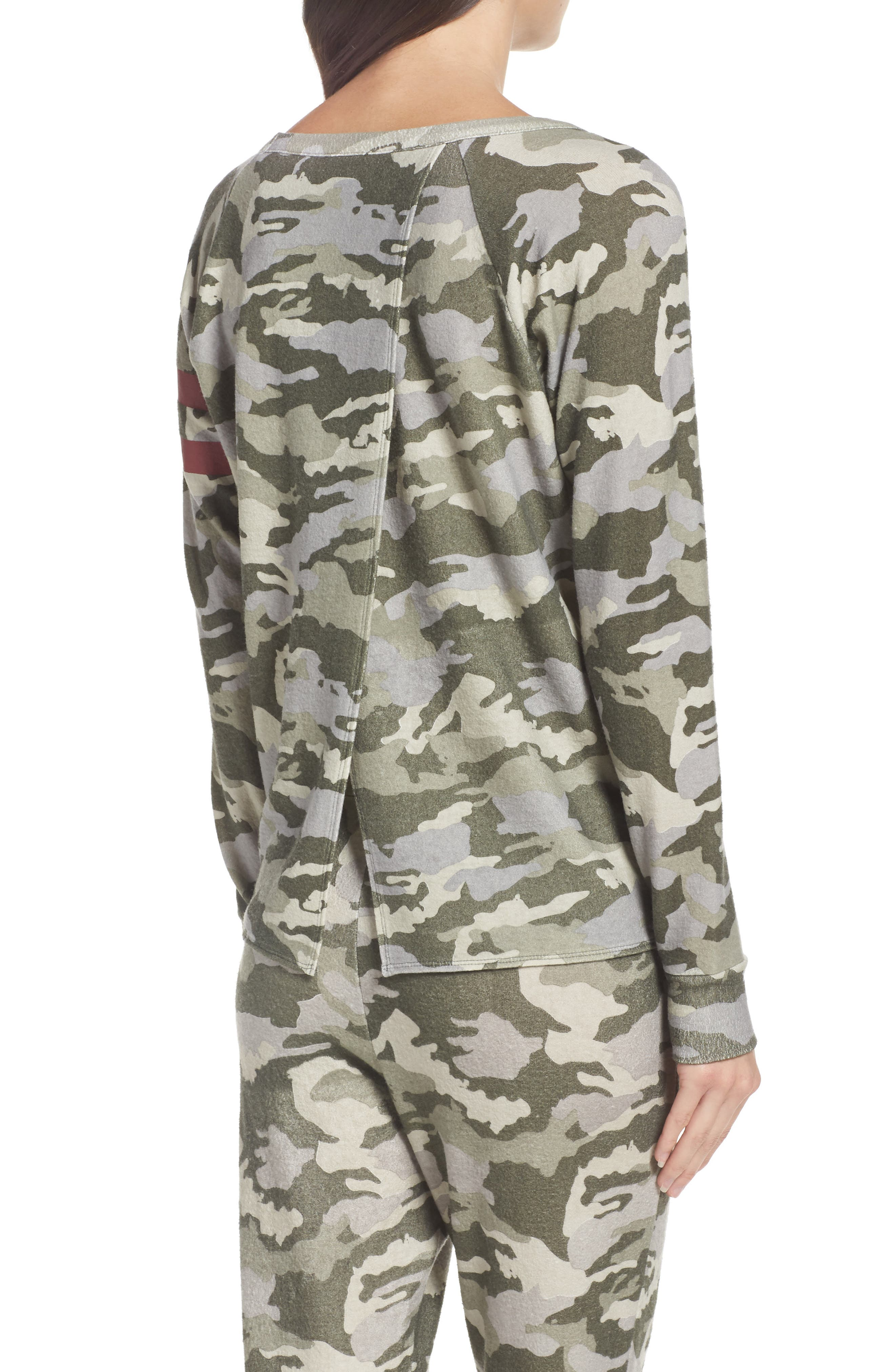 Alternate Image 2  - Chaser Camo Lounge Sweatshirt