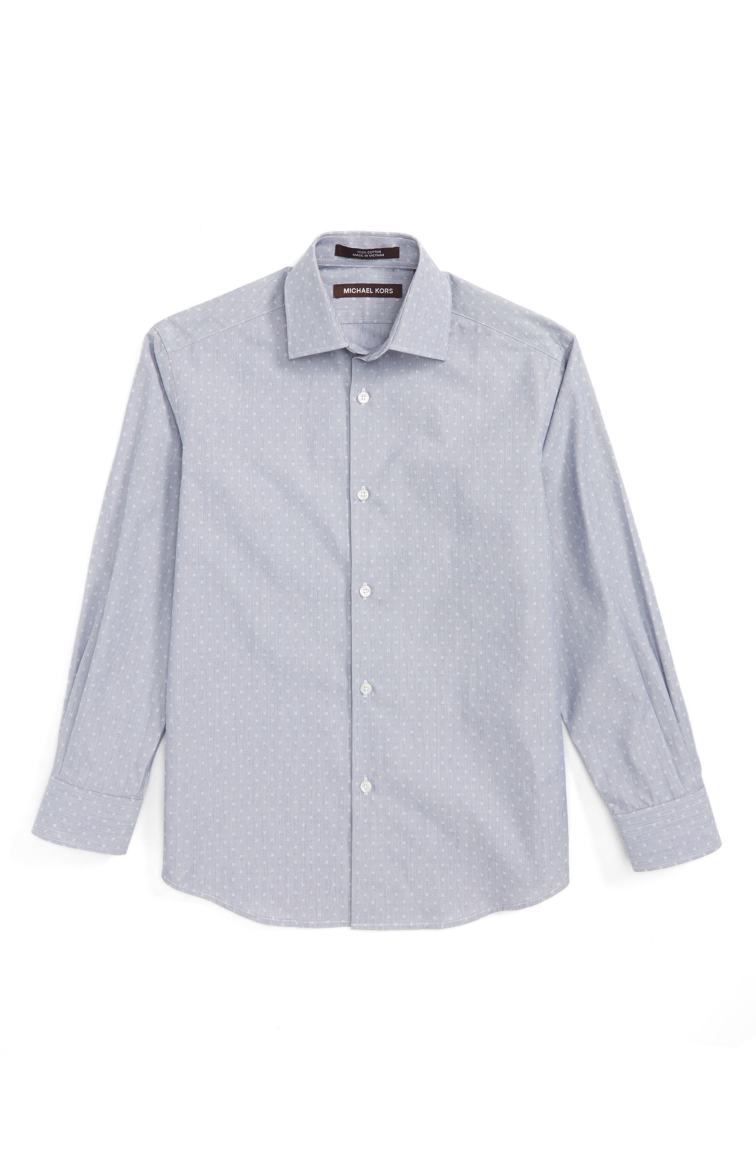 Michael Kors Stripe Neat Dress Shirt (Big Boys)